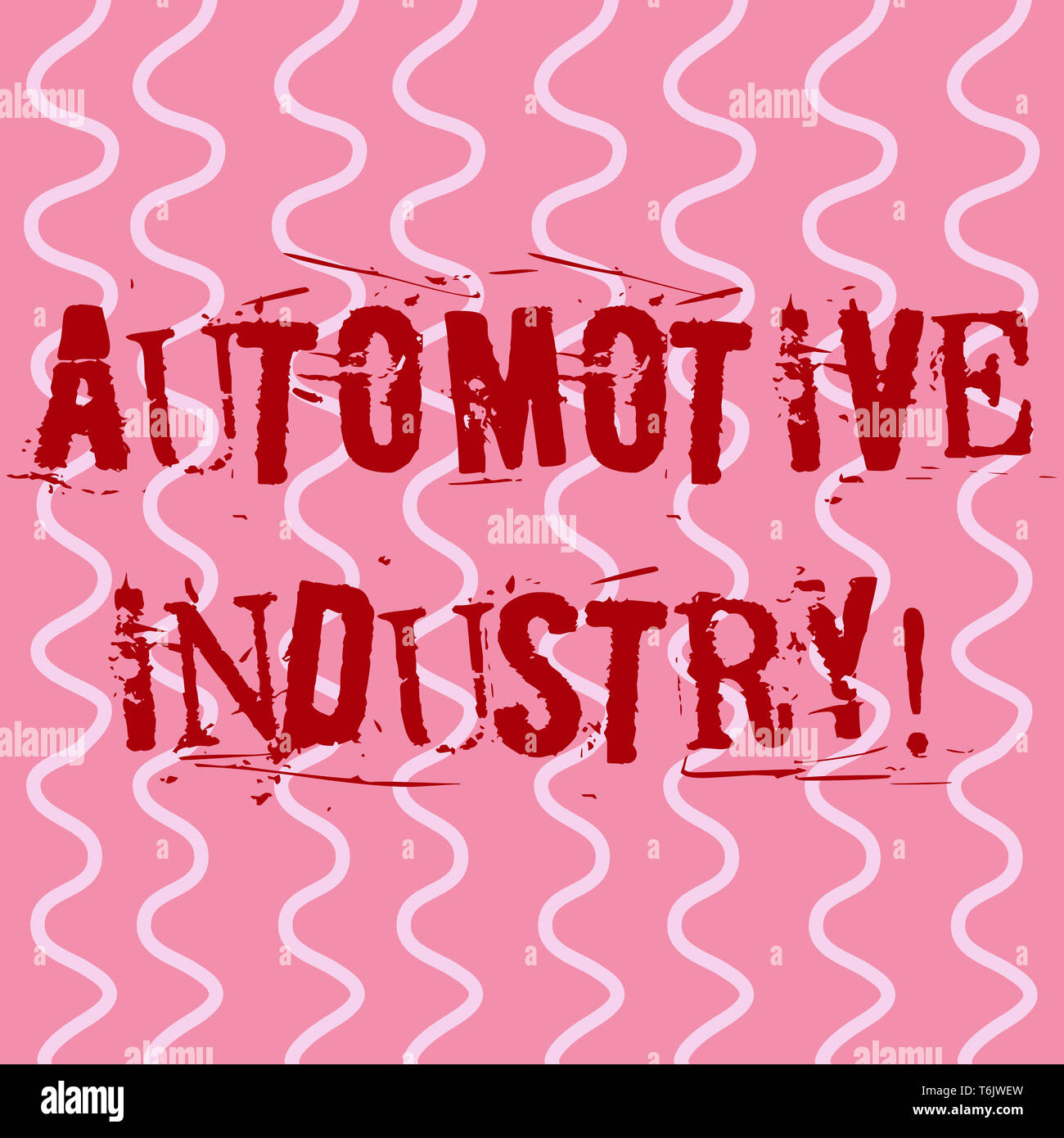 Conceptual hand writing showing Automotive Industry. Concept meaning organizations involved in the business of motor vehicles White Wavy Curly Line Pa - Stock Image