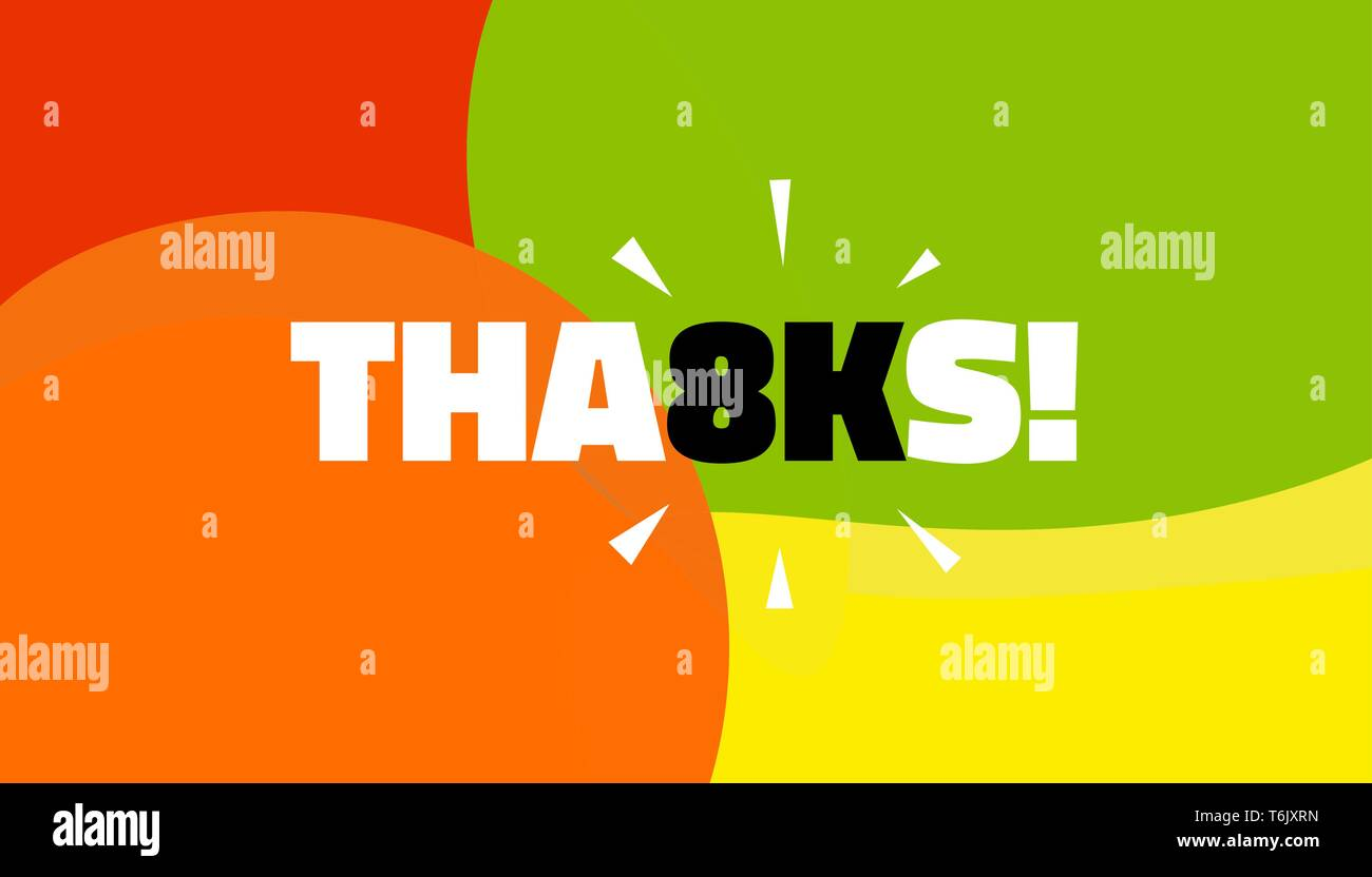 Social media banner with thanks 8K followers achievement. Thank you for 8000 thousand subscribers decoration post template. Greeting card for social n - Stock Image