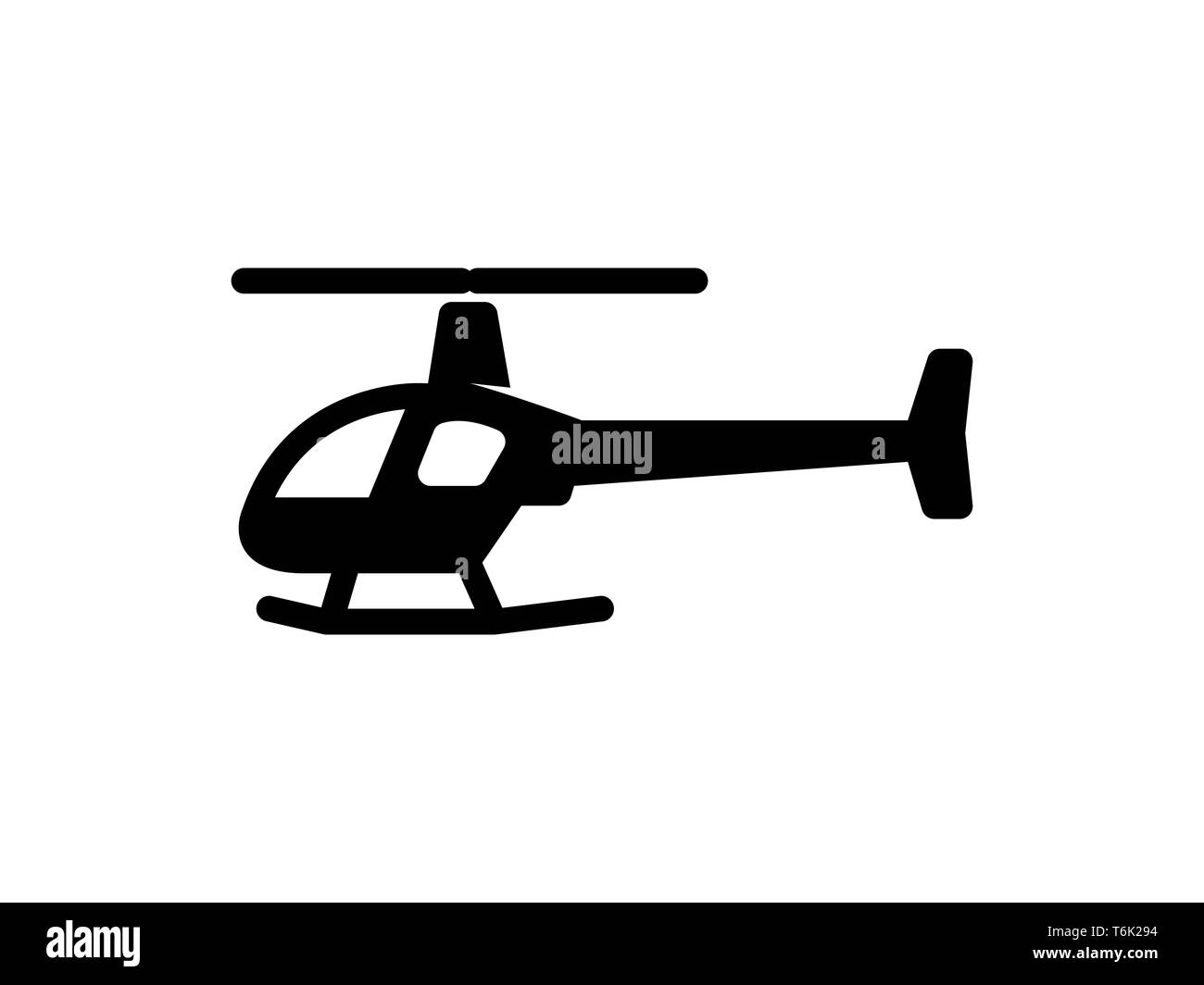 helicopter solid icon. Element of helicopter icon for mobile concept and web apps. Thin solid helicopter icon can be used for web and mobile - Vector - Stock Image