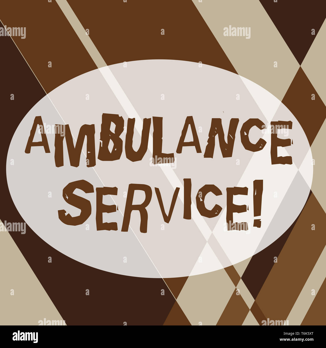 Text sign showing Ambulance Service. Business photo text emergency response wing of the National Health Service Geometrical Shapes and Linear Combinat - Stock Image