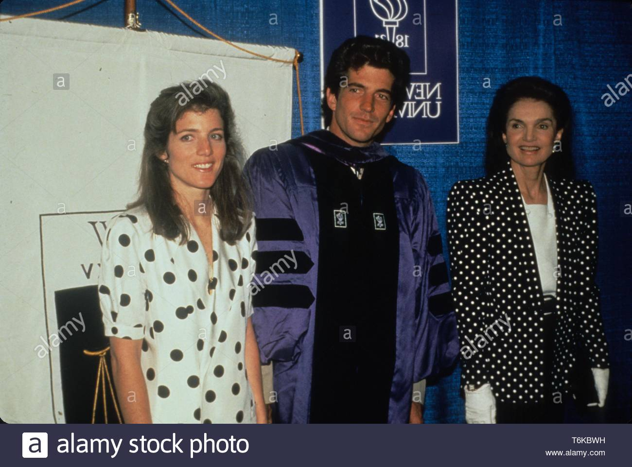 John Kennedy Jr at his graduation from NYU Law School with