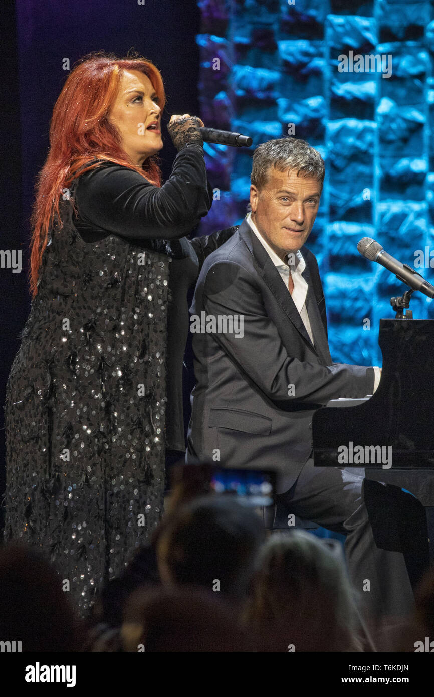 April 27, 2019 - Nashville, Tennessee, U.S. - 30 April 2019 - Nashville, Tennessee -  Winonna performs with Michael W. Smith at 35 Years of Friends: Celebrating the Music of Michael W. Smith held at Bridgestone Arena. Photo Credit: Frederick Breedon/AdMedia. (Credit Image: © Frederick Breedon/AdMedia via ZUMA Wire) - Stock Image