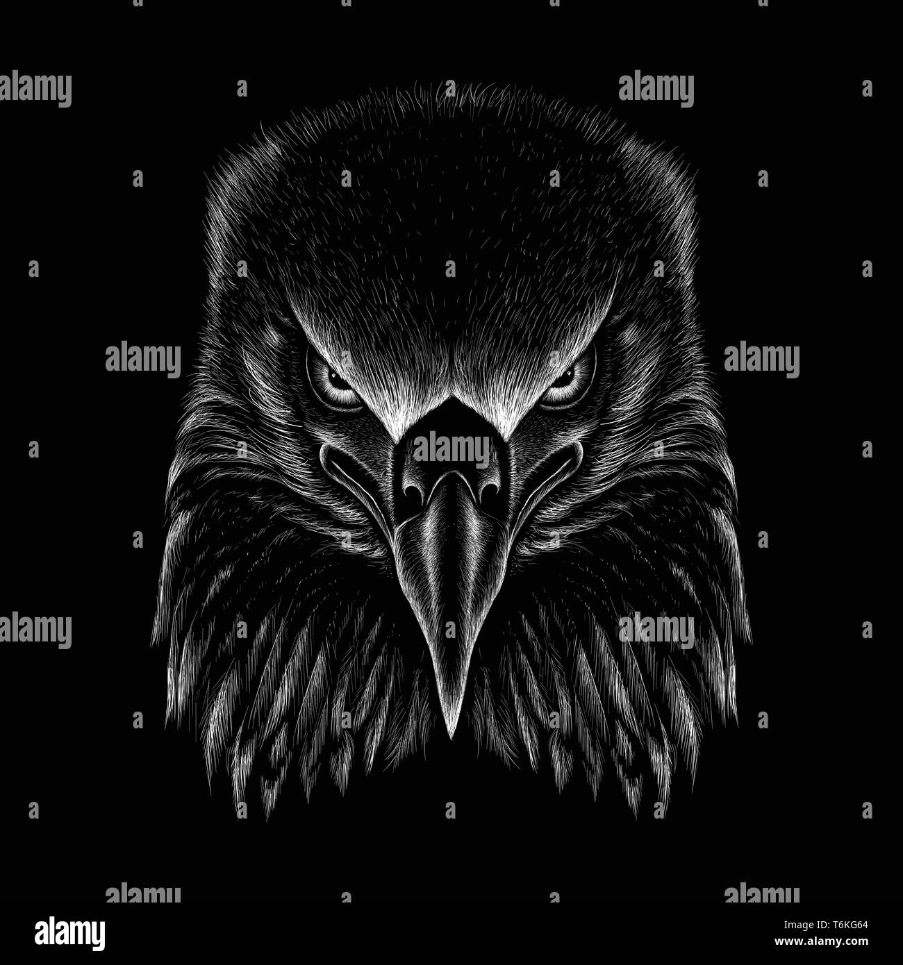 The Vector Logo Eagle For Tattoo Or T Shirt Design Or