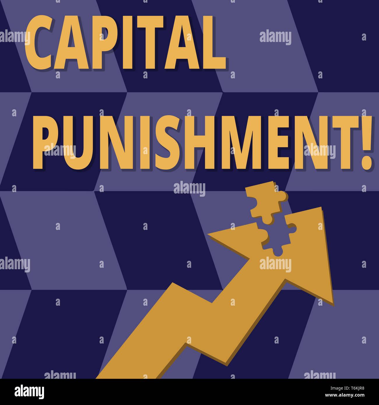 Handwriting text Capital Punishment  Conceptual photo