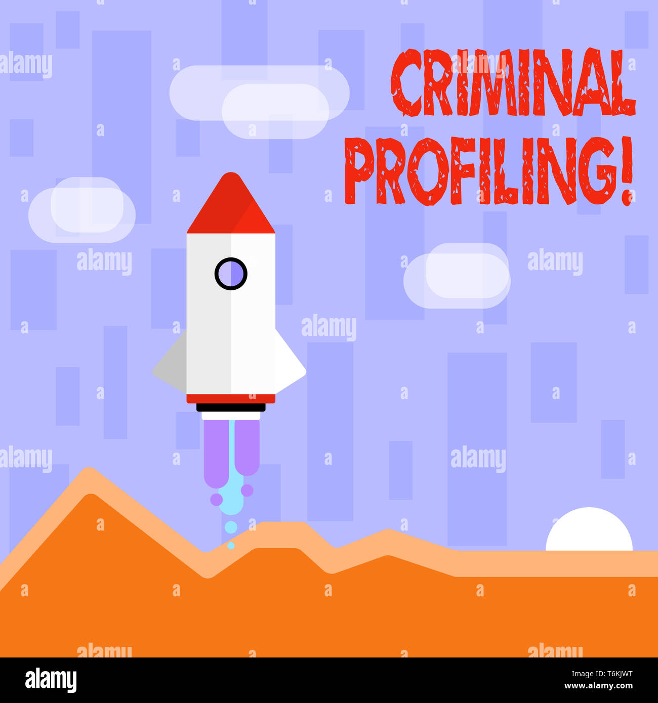 Writing note showing Criminal Profiling  Business concept