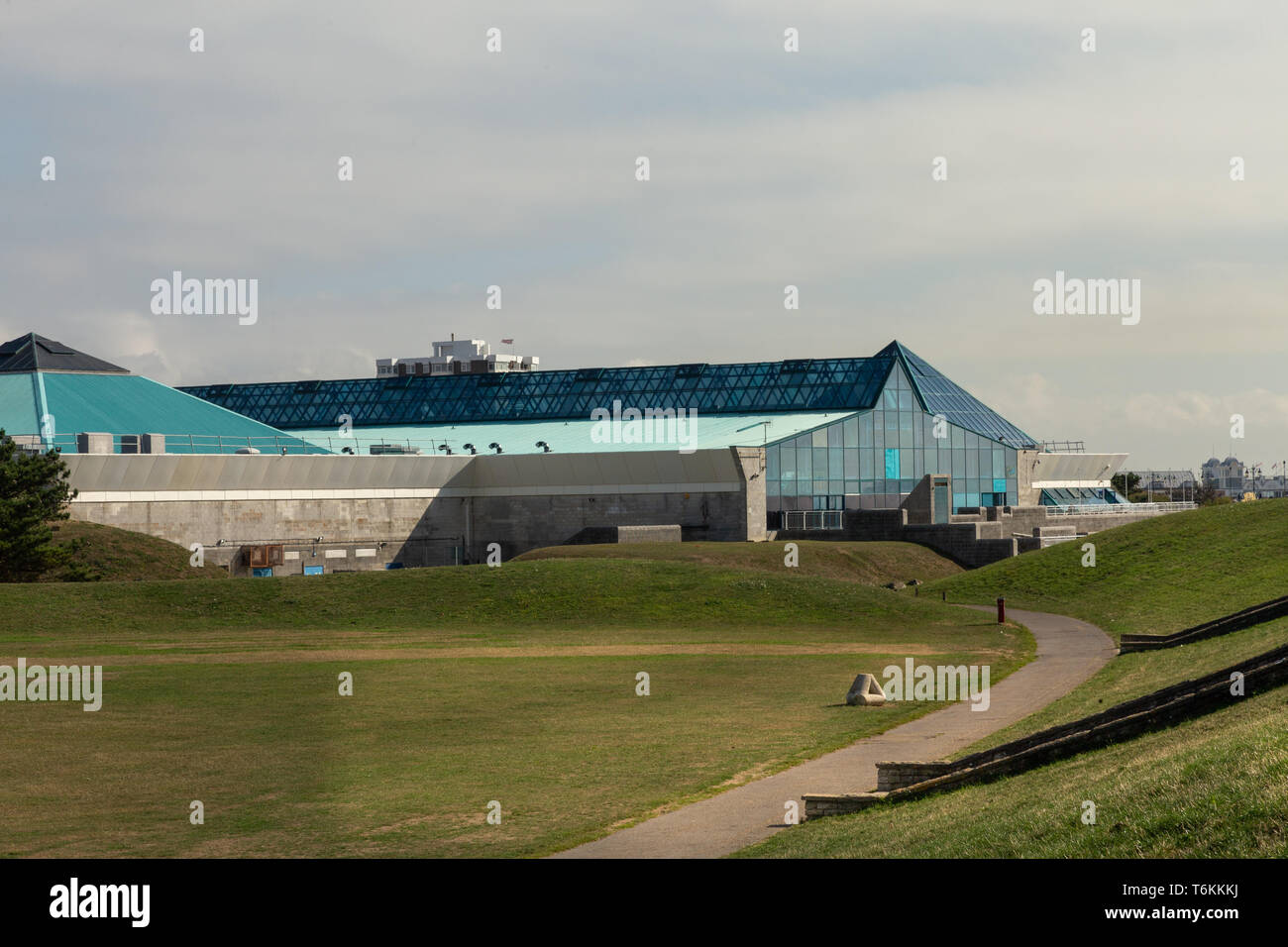 The Portsmouth Pyramids Centre (also known as the Pyramids) is an indoor leisure complex in Southsea, Portsmouth, Hampshire, England. Stock Photo
