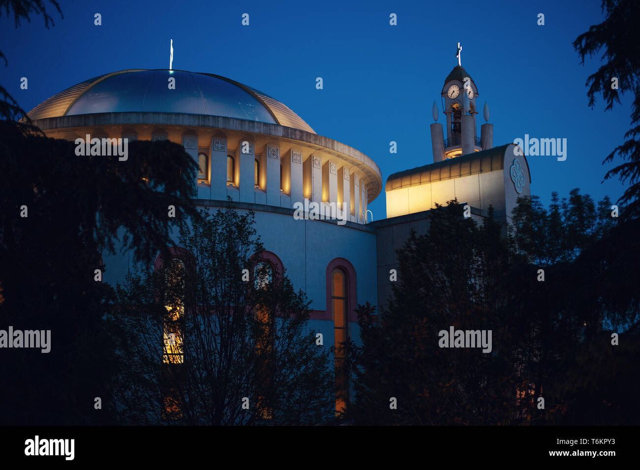 Resurrection of Christ Orthodox Cathedral in Tirana, Albania - Stock Image