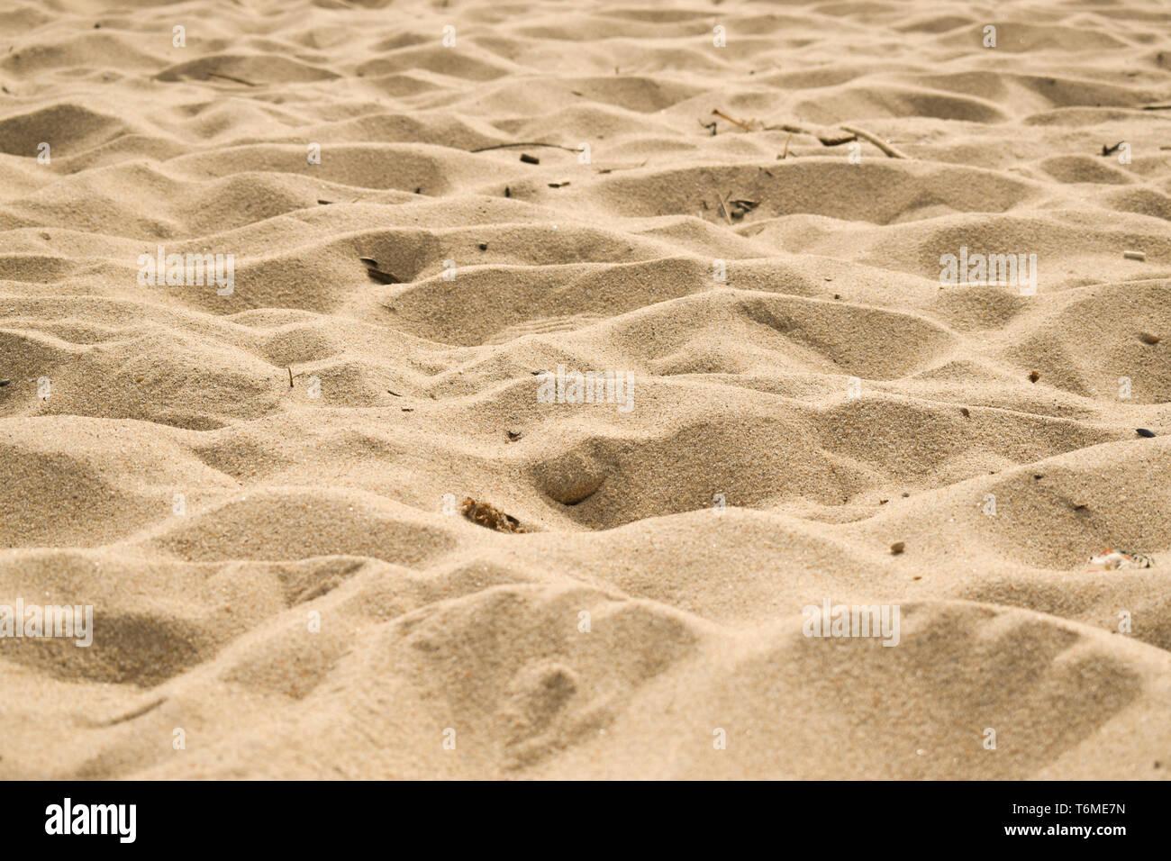 Clean beach sand. - Stock Image