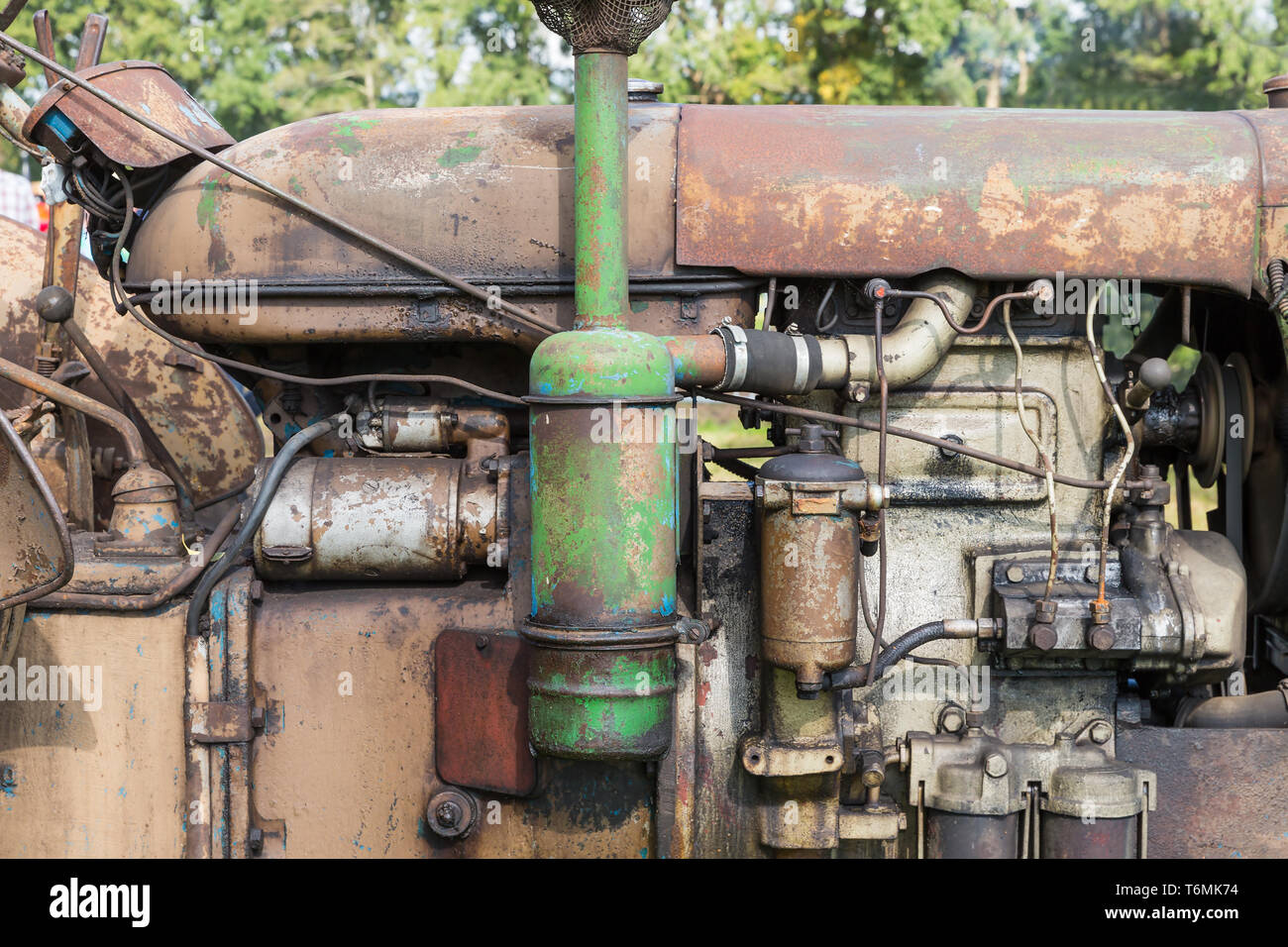 Old Tractor Engine Oil Stock Photos & Old Tractor Engine Oil