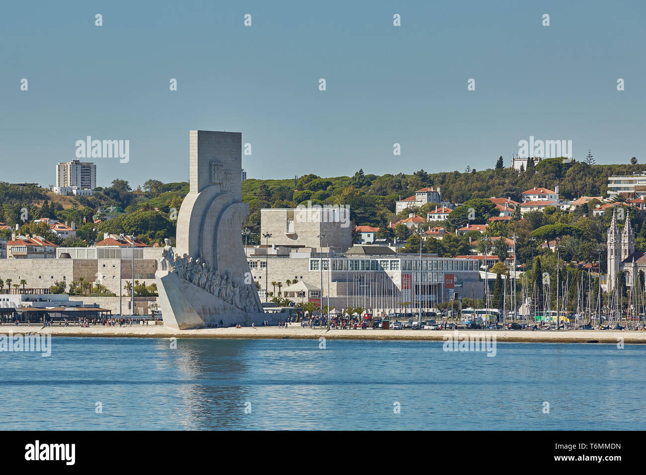 LISBON / PORTUGAL - OCTOBER 02, 2017: Padrao dos Descobrimentos (Discovery Monument) is an imposing architectural achievement in Belem district of Lis - Stock Image