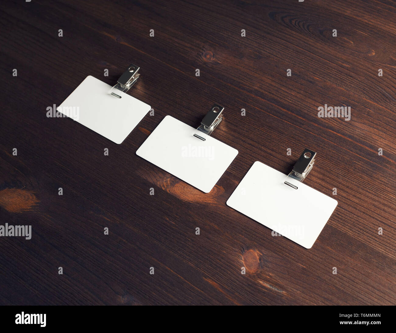 Blank id cards - Stock Image