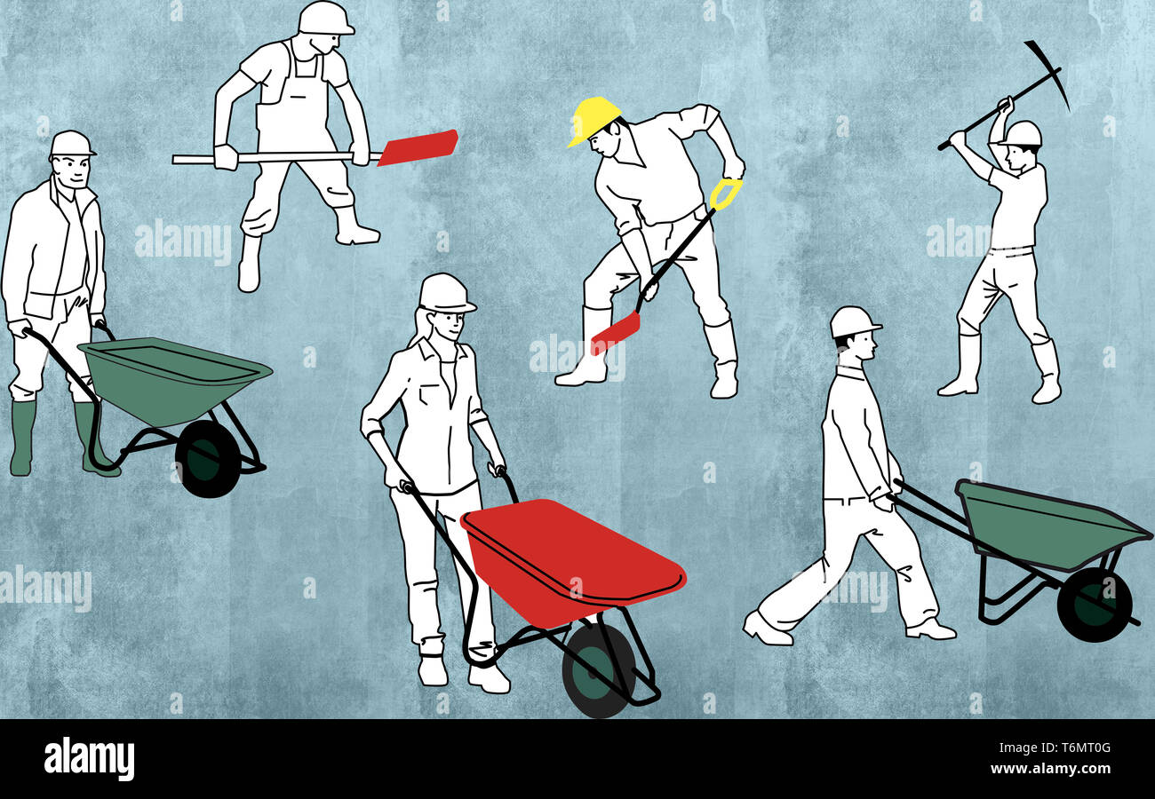 construction workers - Stock Image