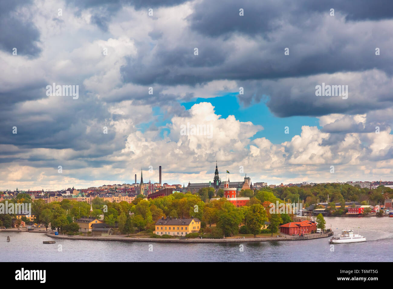 Scenic view of Stockholm, Sweden Stock Photo