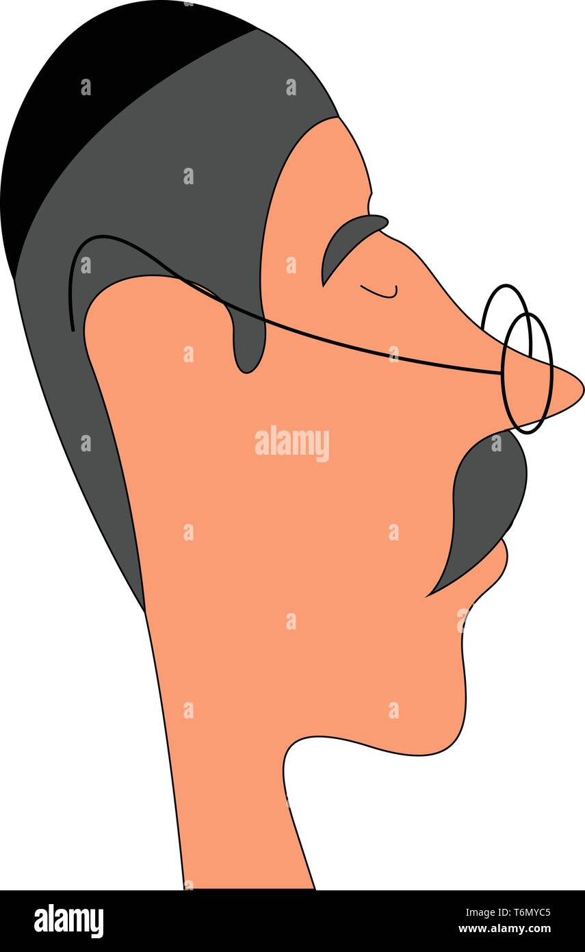 Rabbi illustration vector on white background - Stock Vector
