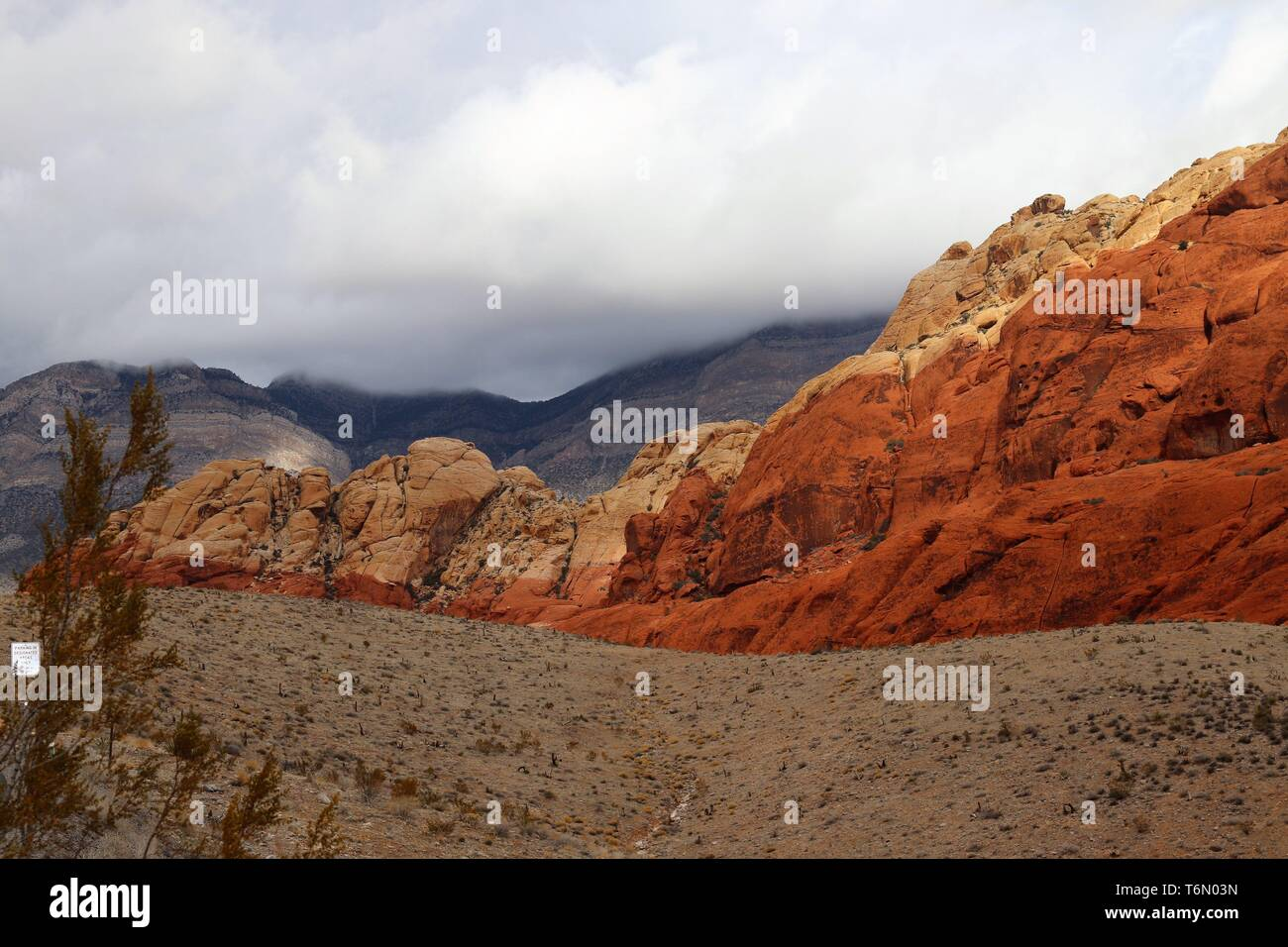 Red Rock Canyon Scenery - Stock Image