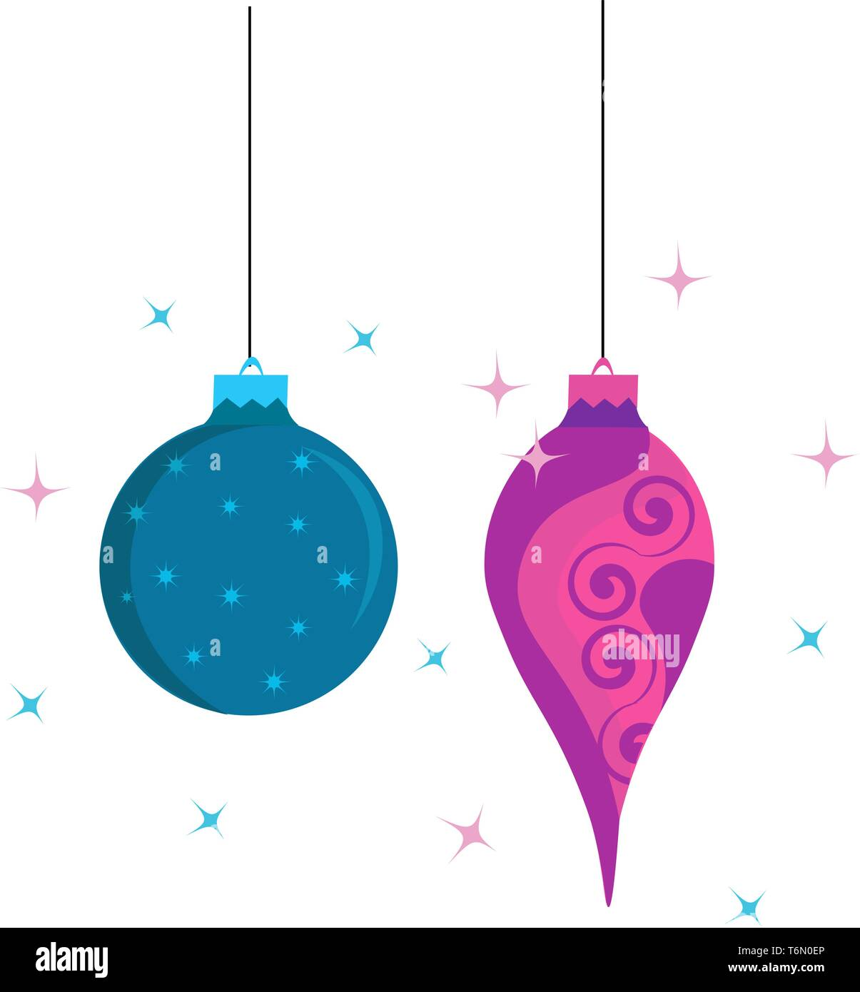 Colorful Christmas Ornaments Drawings.An Array Of Colorful Lights And Bulb Which Are Getting Ready