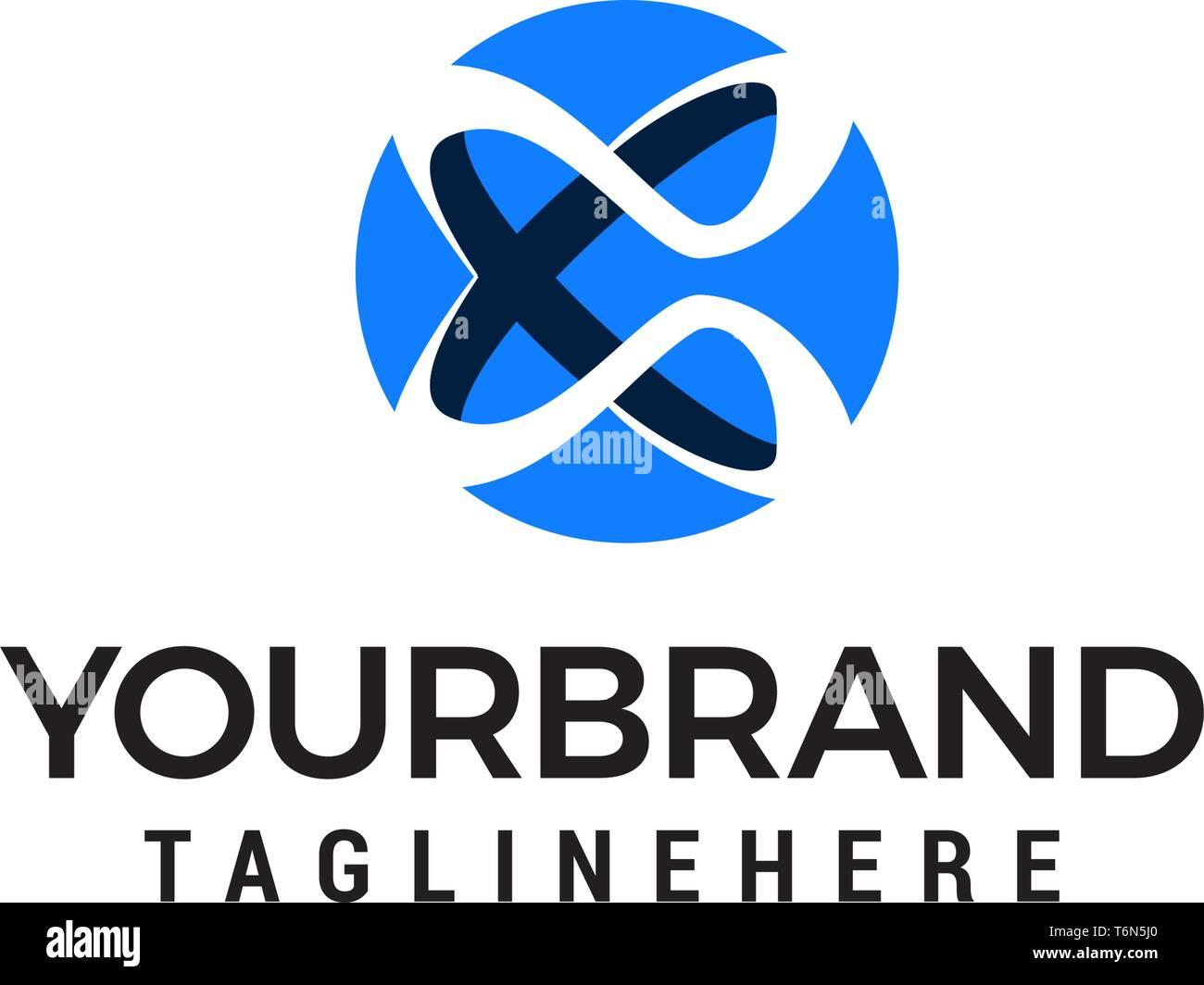 letter x logo design concept template vector Stock Vector