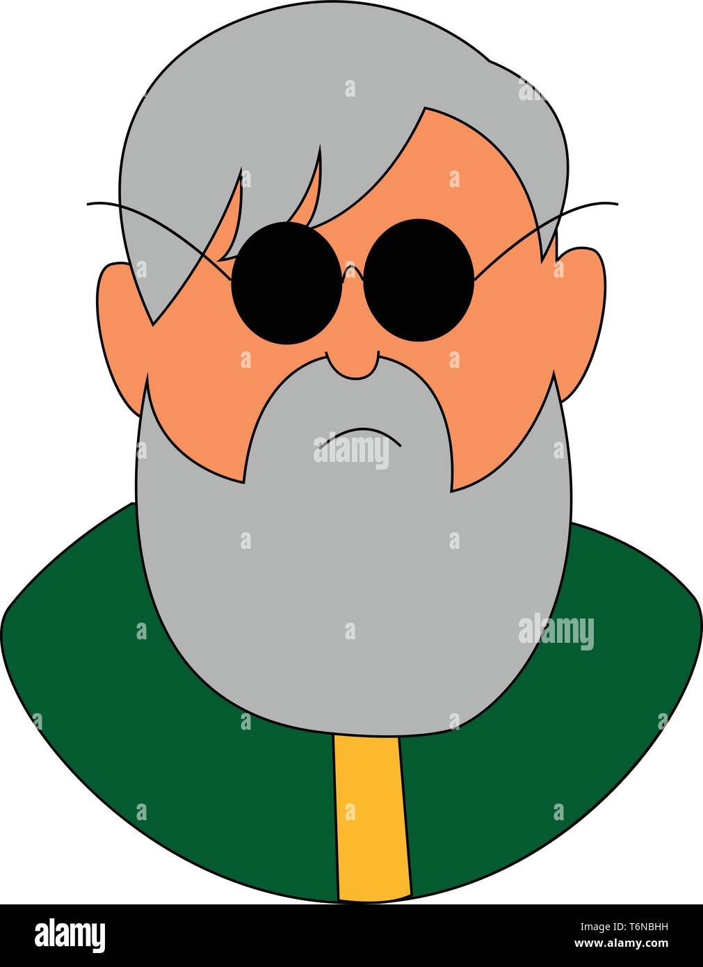 Cartoon Old Arabian Man with Beard | Beard cartoon, Cartoon character  design, Old man cartoon