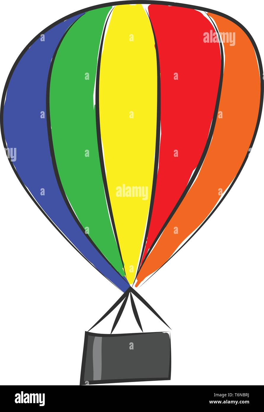 A parachute which is colorful with lot of colors vector color drawing or illustration Stock Vector