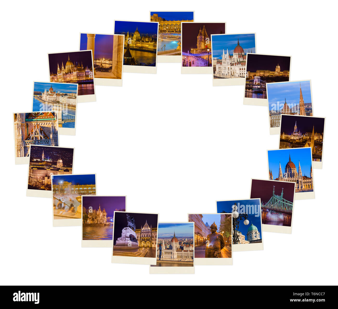 Frame made of Budapest Hungary travel images (my photos) - Stock Image