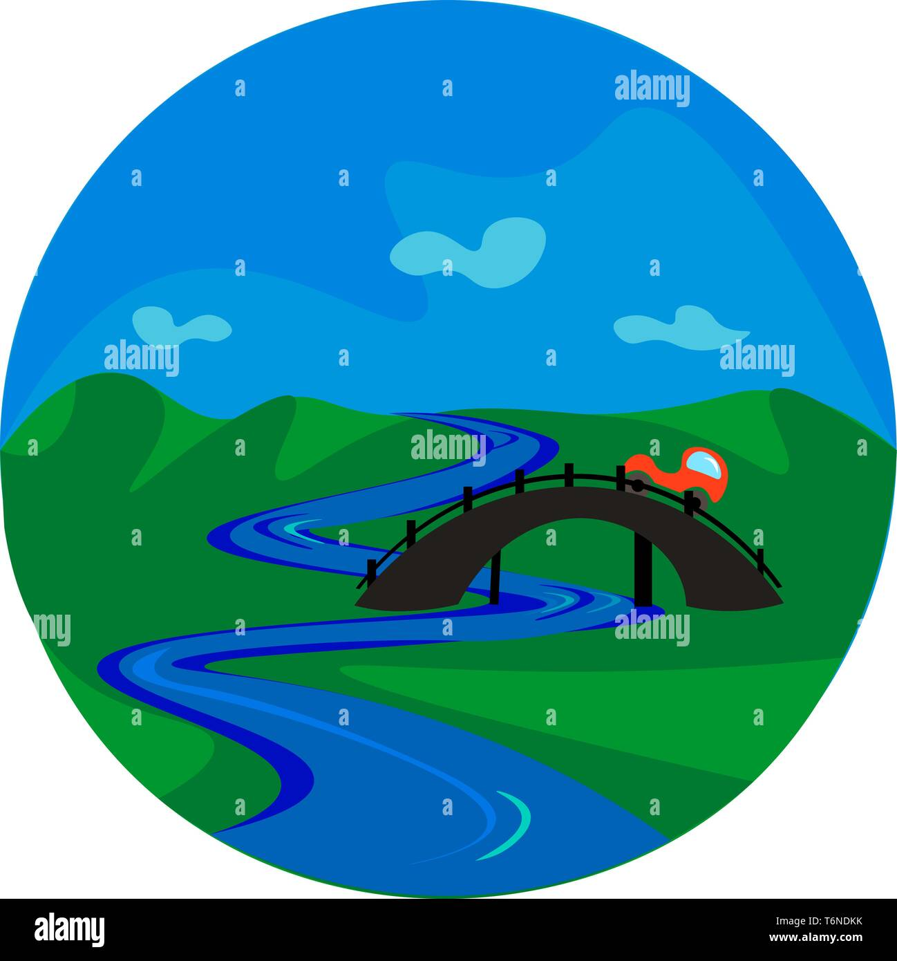 portrait of an orange car passing the bridge over a river vector color drawing or illustration stock vector image art alamy https www alamy com portrait of an orange car passing the bridge over a river vector color drawing or illustration image245104823 html