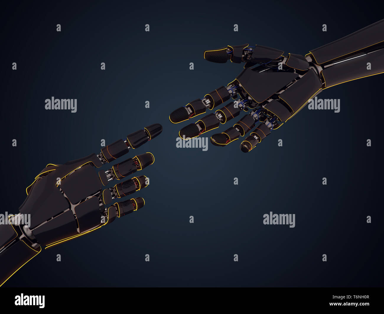 3D rendering robotic hand Stock Photo