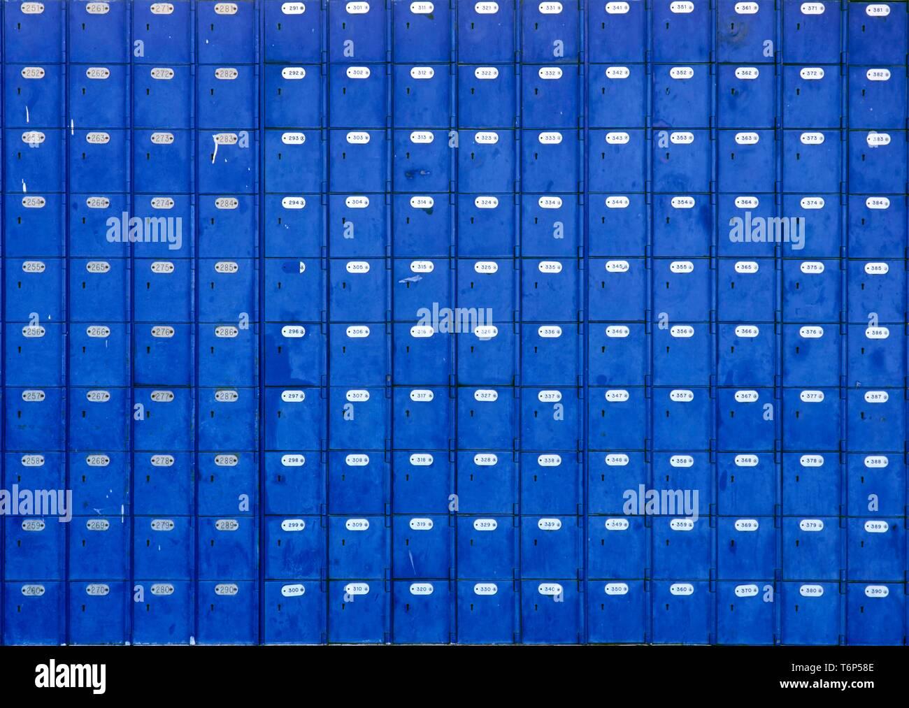 Post office boxes, Springbok, Namaqualand, Suedafrika, Afrika - Stock Image