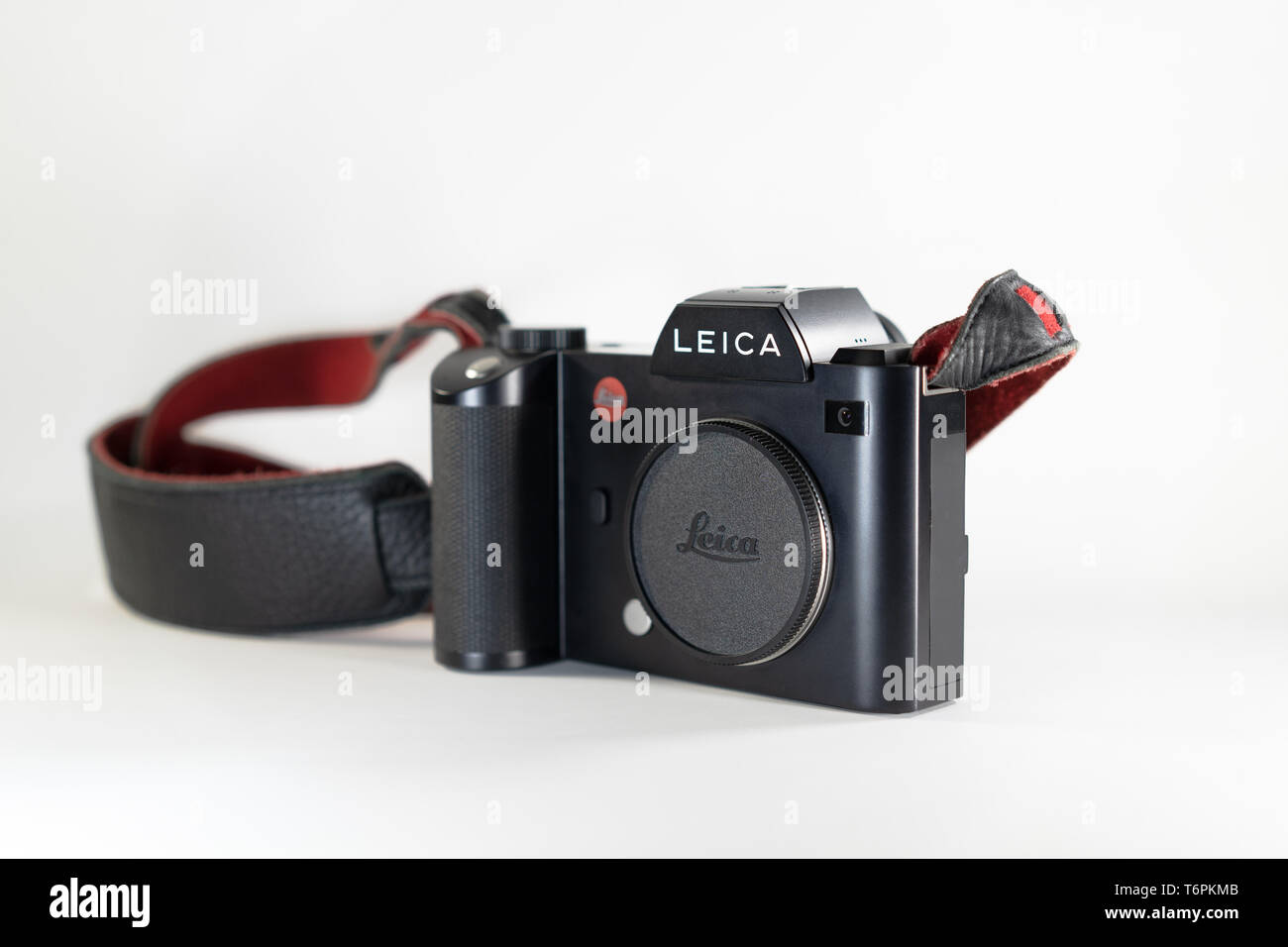 Bangkok, Thailand - 13 Jul, 2018: Leica SL; the professional mirrorless fullframe camera 35mm CMOS Sensor by Leica Germany from 2015 in name Leica SL. - Stock Image