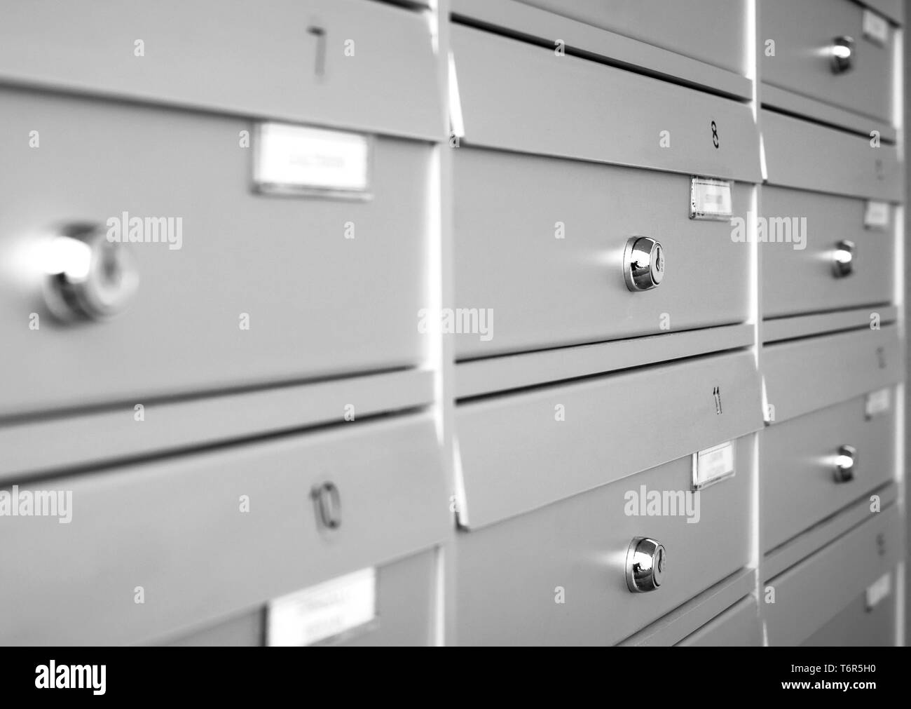 Mailboxes pattern Stock Photo