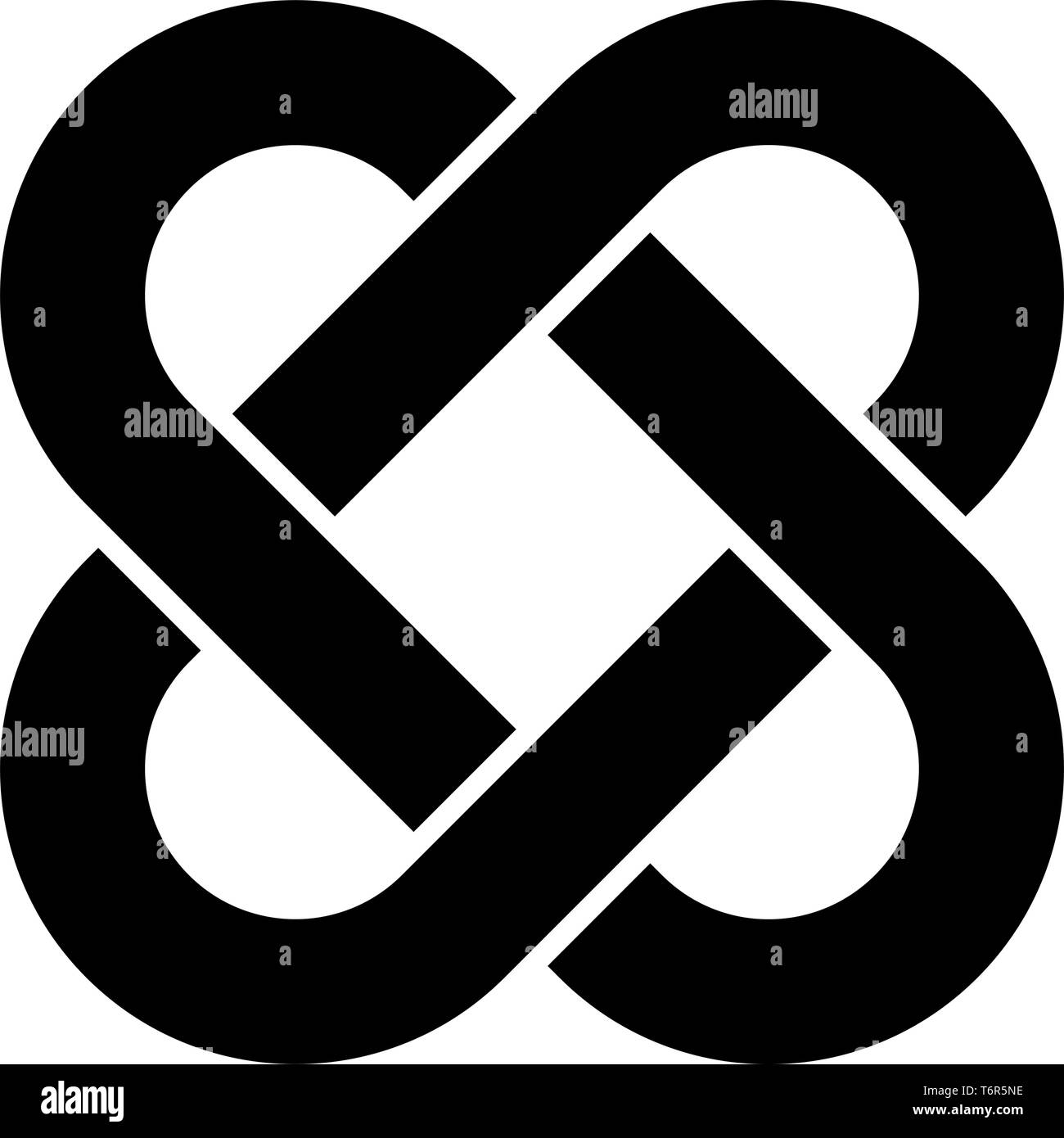 Celtic knot icon black color vector illustration flat style