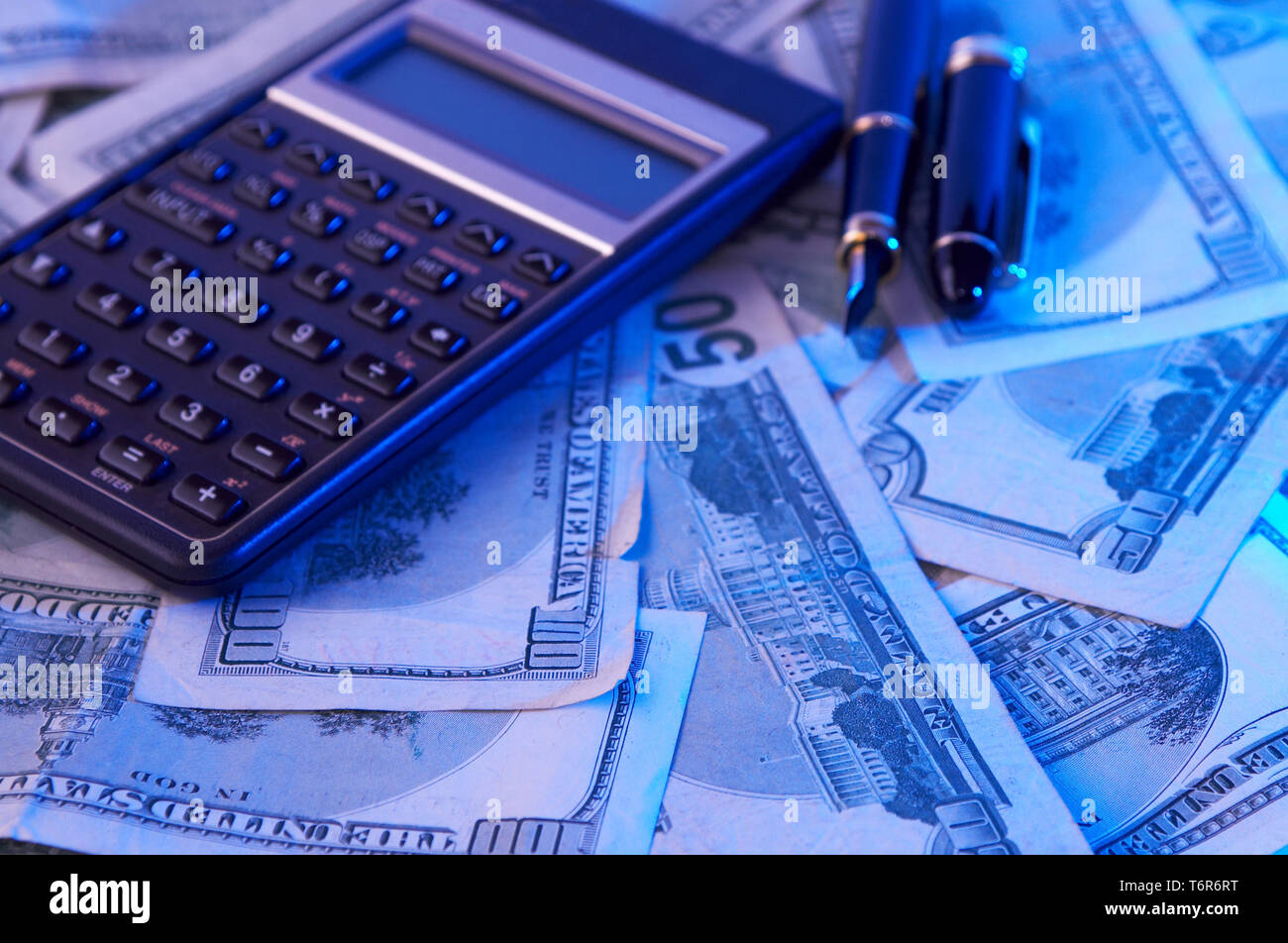 finance concept with us dollars - Stock Image