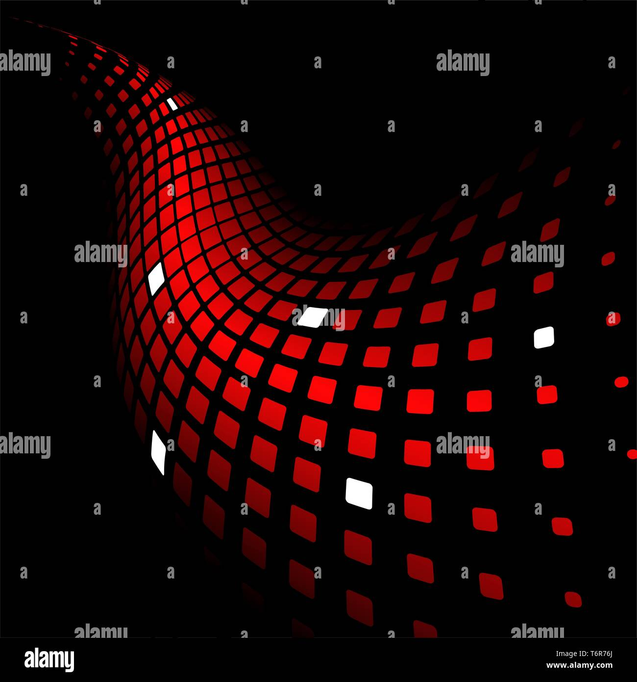 3d Abstract Dynamic Red Background On Black Stock Vector Image Art Alamy