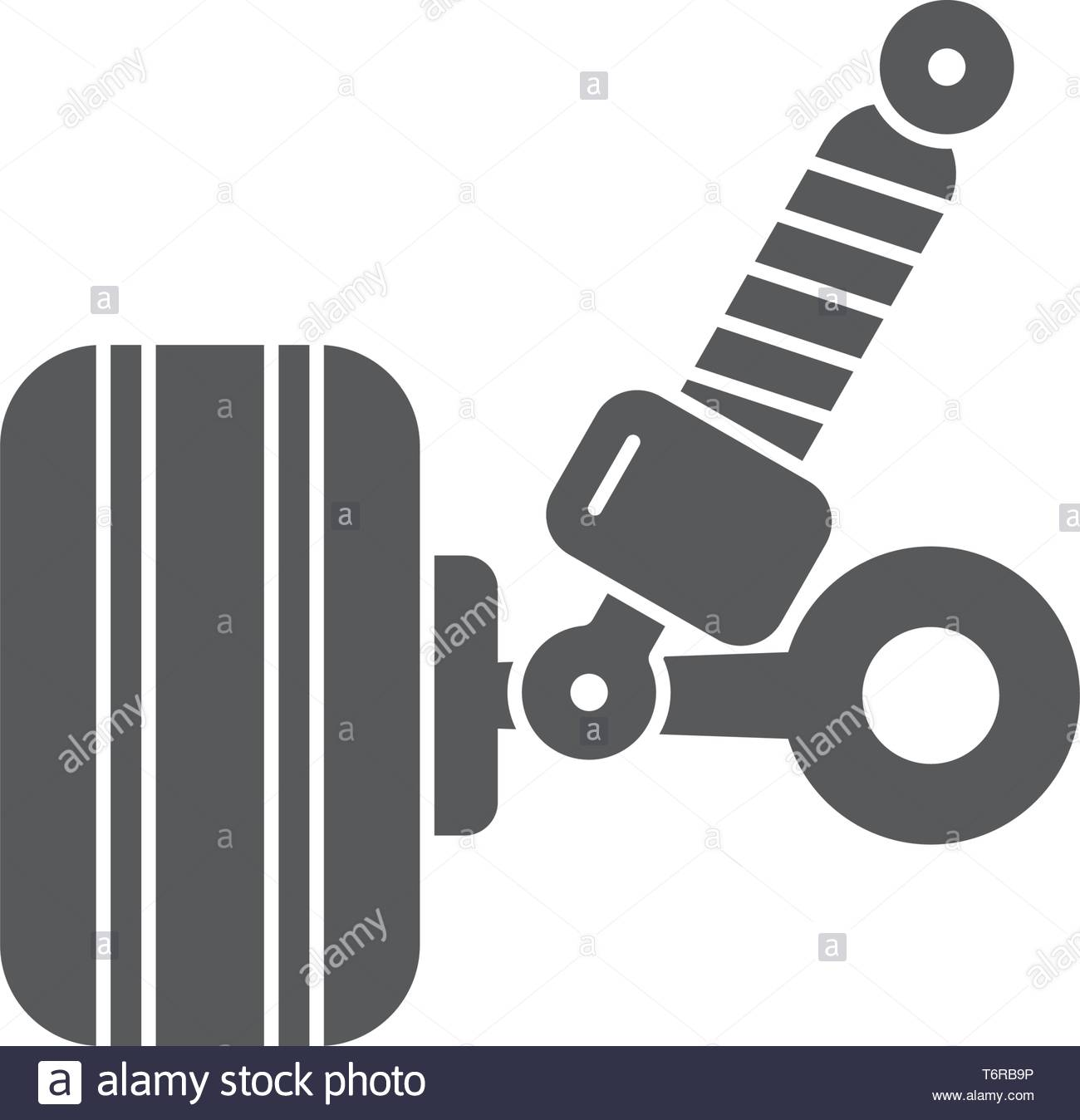 car suspension vector icon concept, design isolated on white background Stock Vector