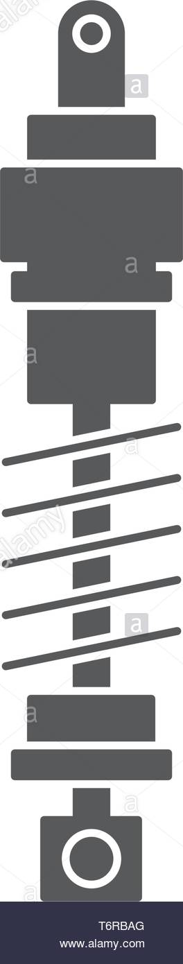 car suspension vector icon concept, design isolated on white background - Stock Vector