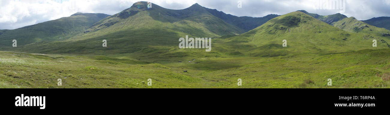 Panorama of Scottish Mountains - Stock Image