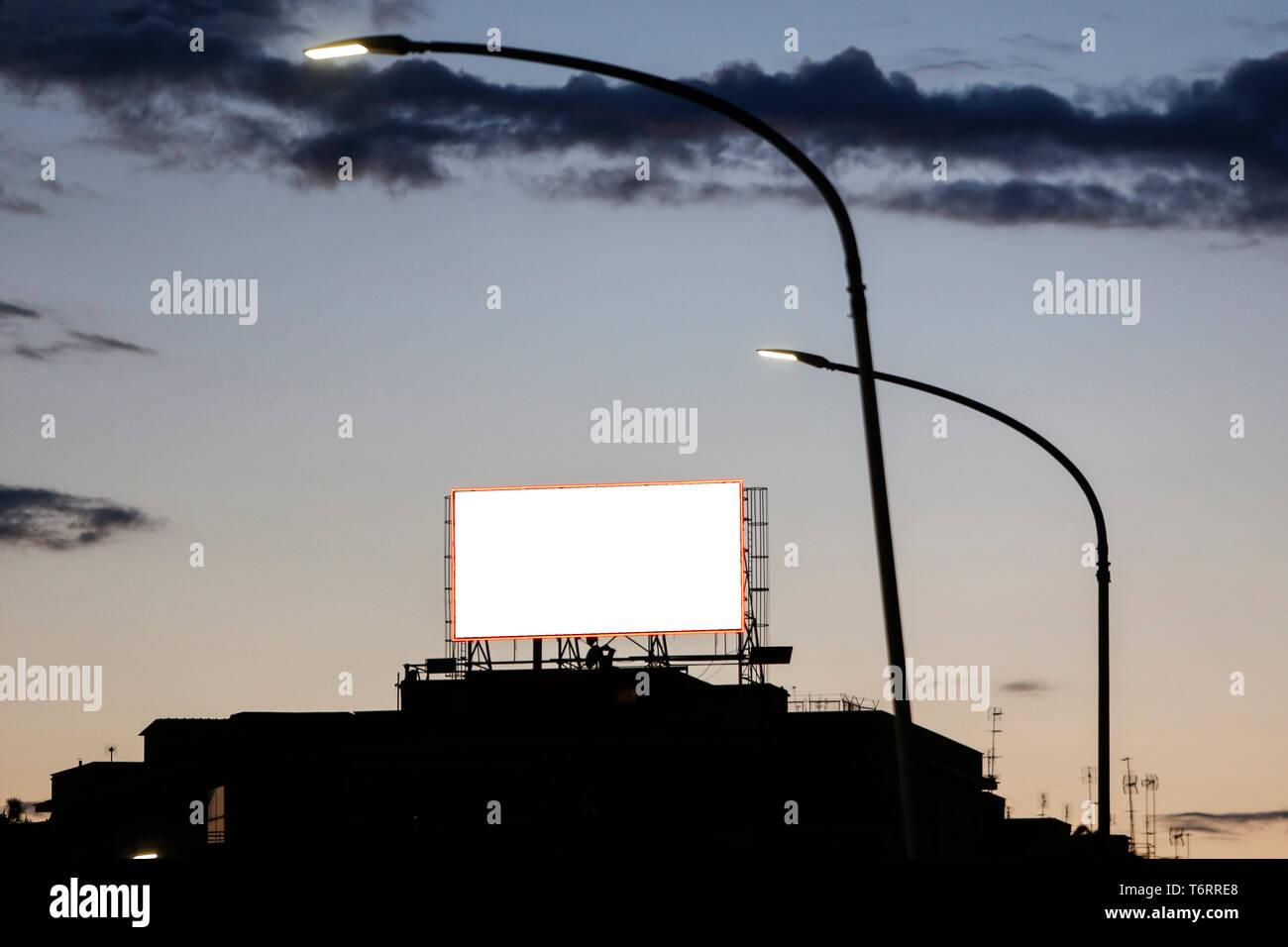 Mock Up Vertical Blank Billboard Stock Photos Amp Mock Up
