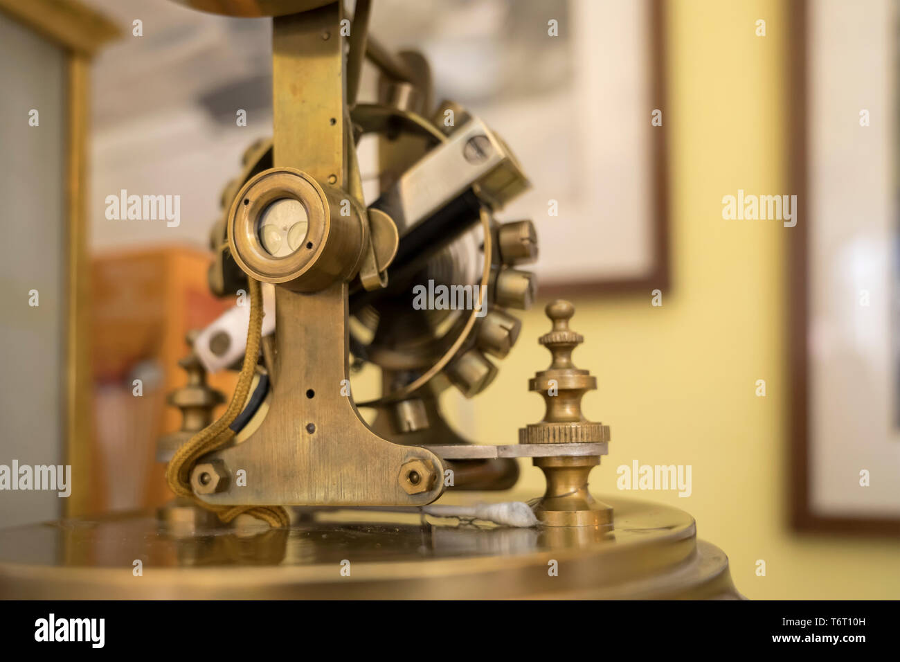 detail  of handcraft rotating pendulum in motion, shot at Milan, Italy - Stock Image