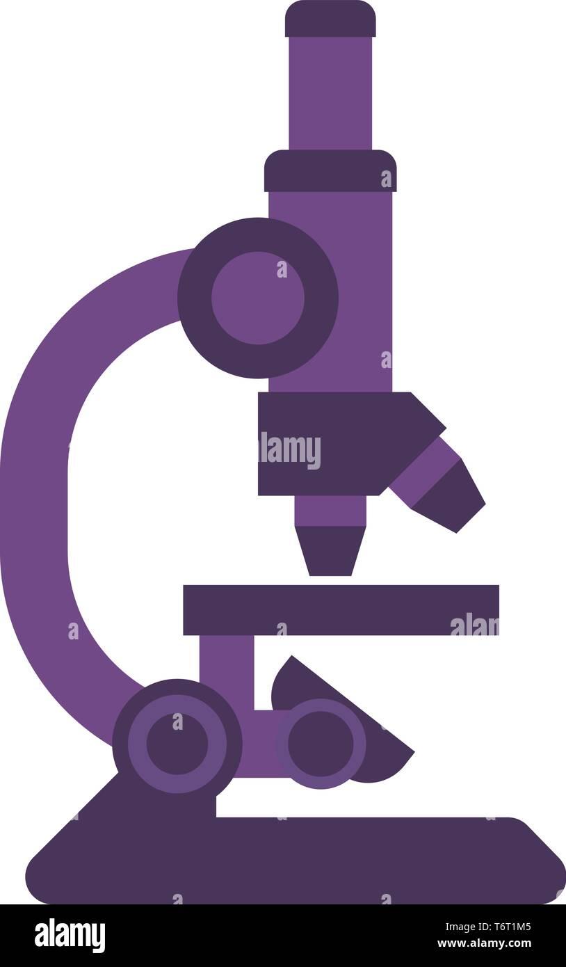 Microscope Icon  - Stock Image