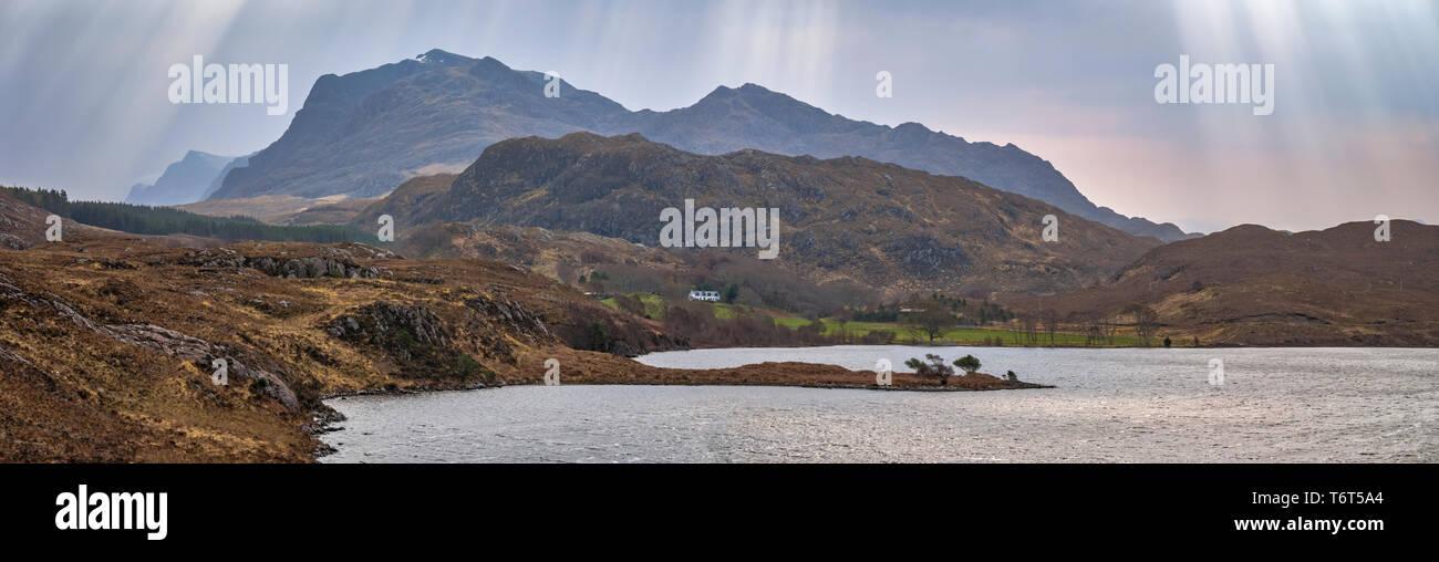 Loch Kernsary, Poolewe, west coast of Scotland, UK. - Stock Image