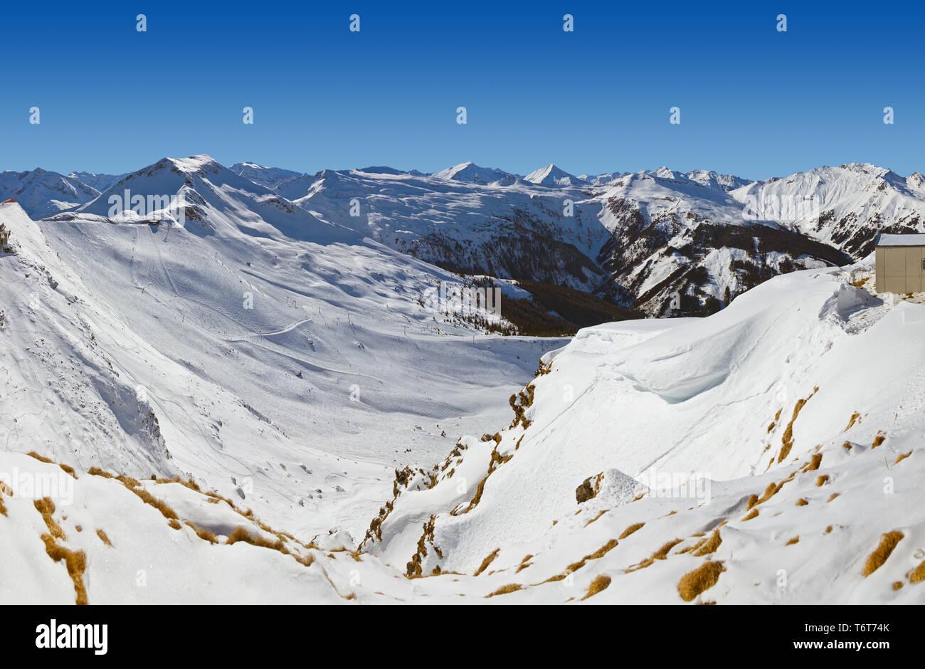 Mountains ski resort Bad Gastein - Austria - Stock Image