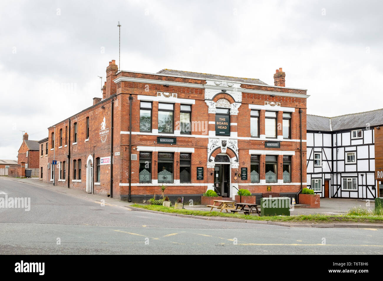 The Boars Head hotel in Middlewich Cheshire UK - Stock Image
