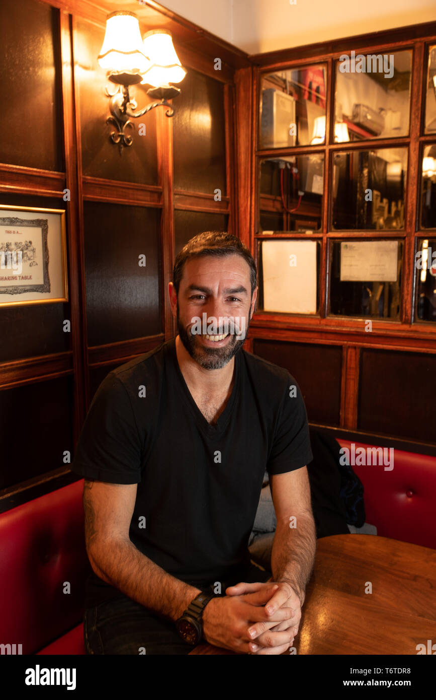 Robert Pirès, ex-football player for Arsenal. He is now the North London club's ambassador. 28 janvier 2019. - Stock Image