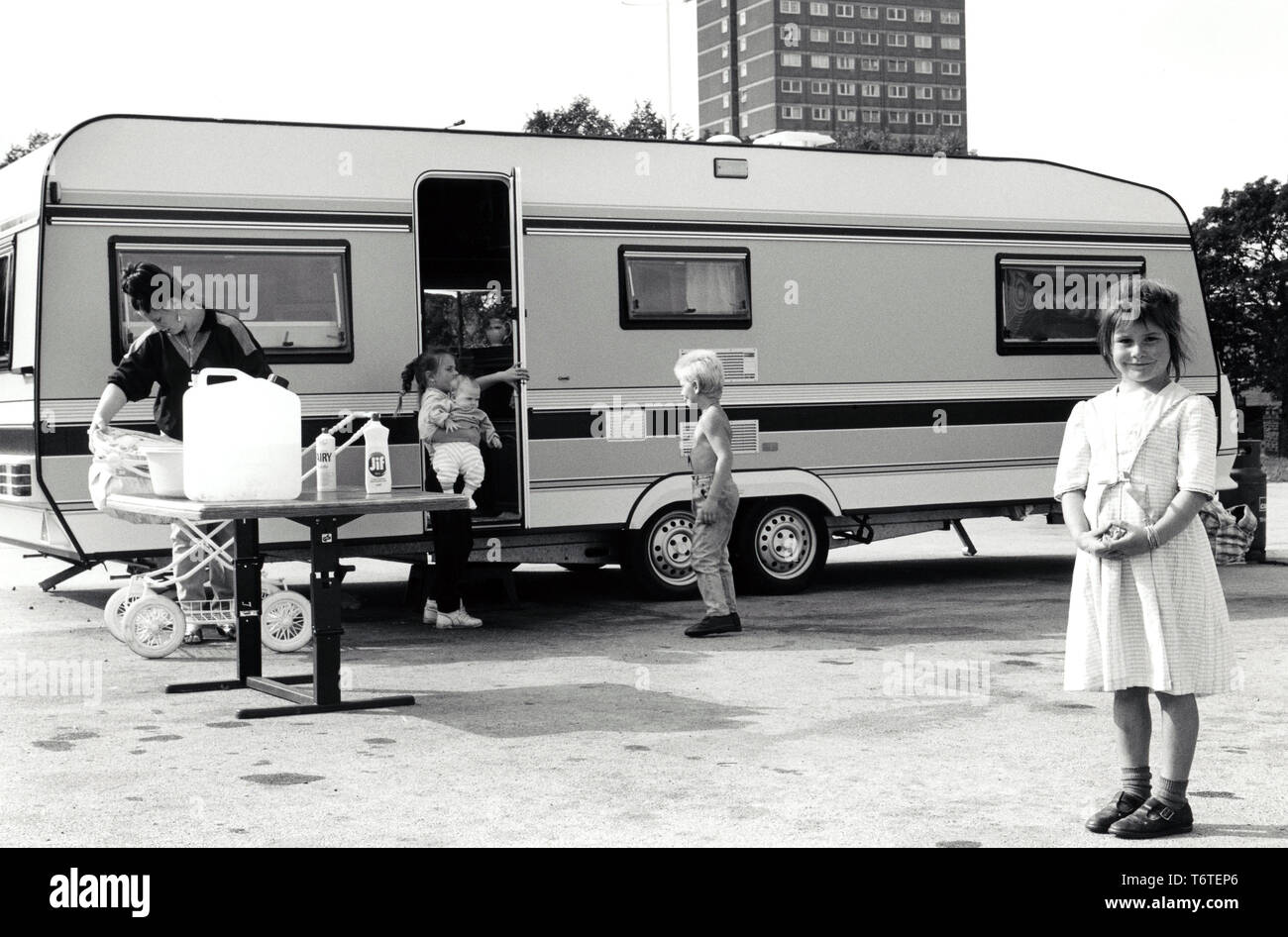Traveller family UK 1980s - Stock Image