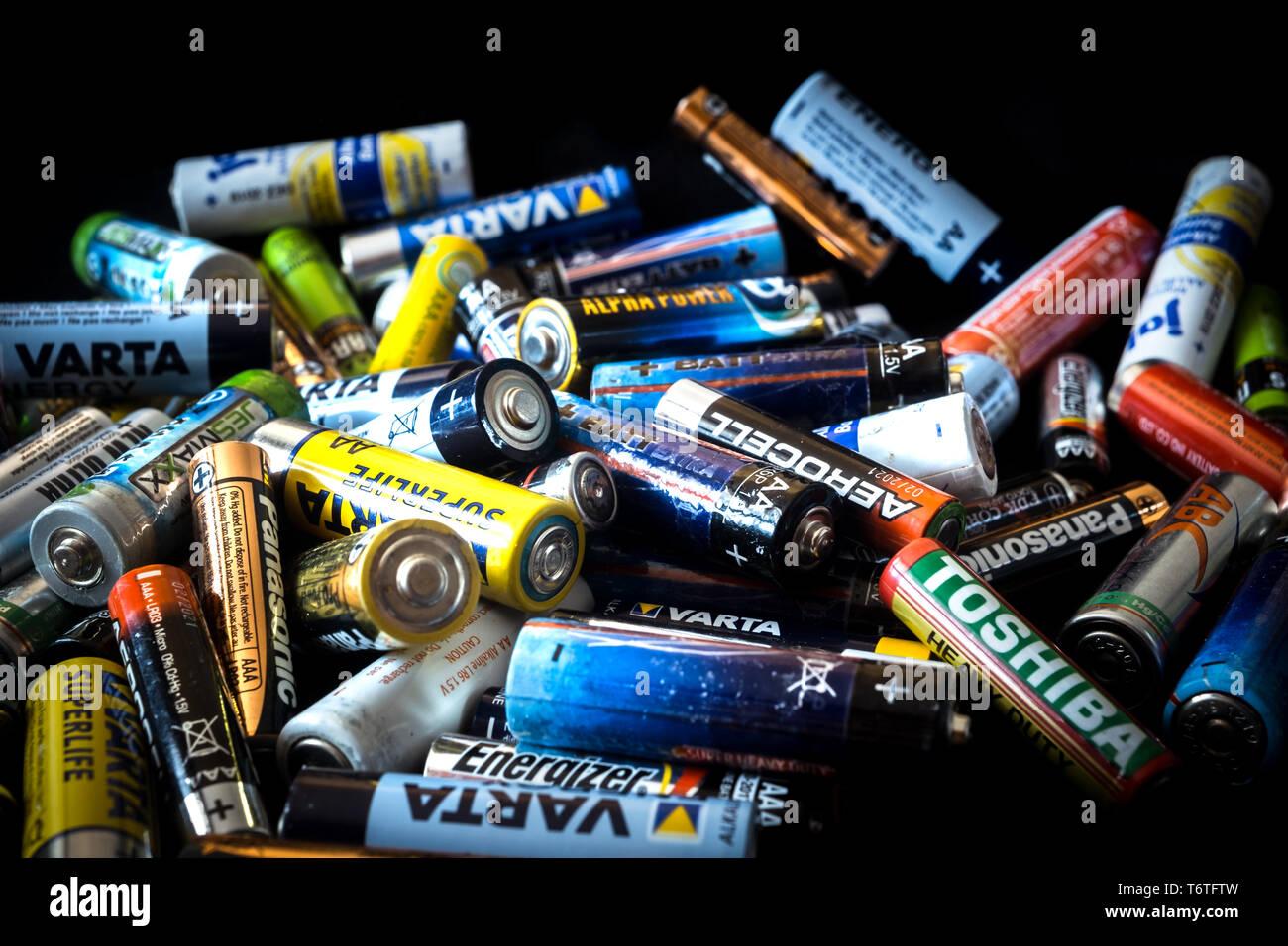 Batteries Various Stock Photos & Batteries Various Stock