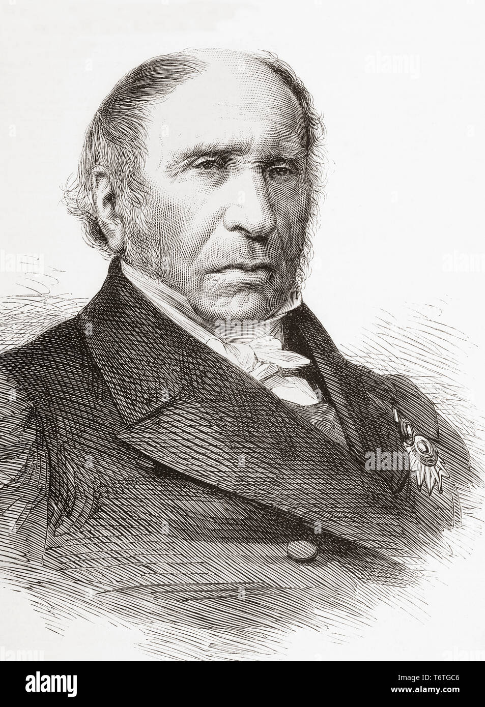 Andre Marie Jean Jacques Dupin, 1783 –1865, aka Dupin the Elder.  French advocate, president of the chamber of deputies and of the Legislative Assembly.  From The Illustrated London News, published 1865. - Stock Image