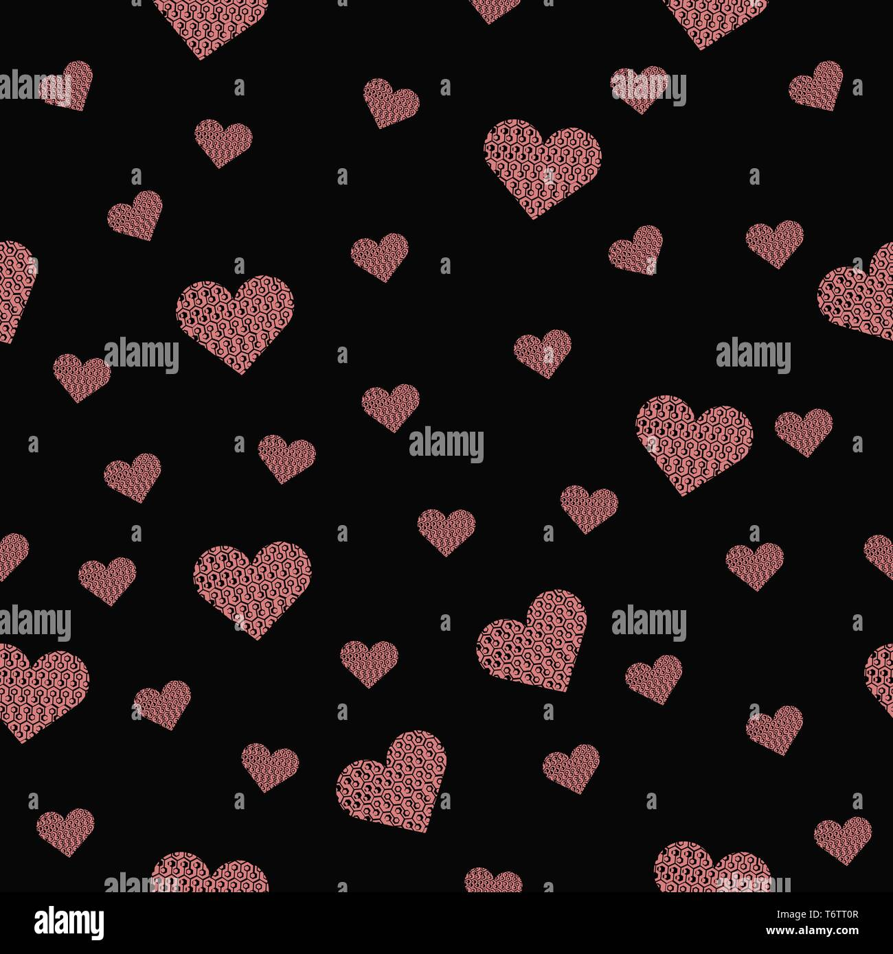 Hearts Wallpaper Red On Black Stock Photos Hearts Wallpaper Red