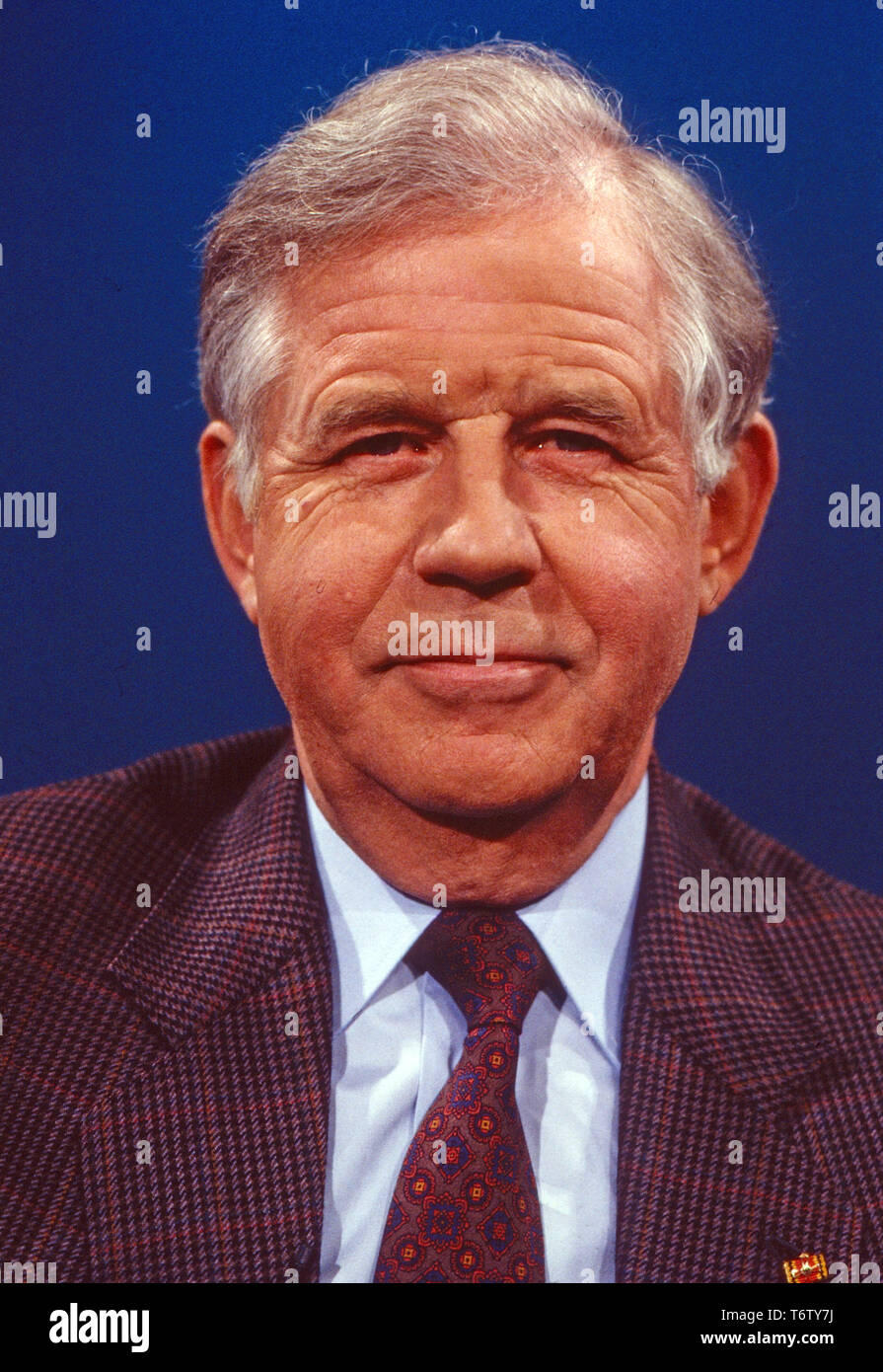 Kurt Biedenkopf, deutscher Politiker, Deutschland 1991. German politician Kurt Biedenkopf, Germany 1991. - Stock Image