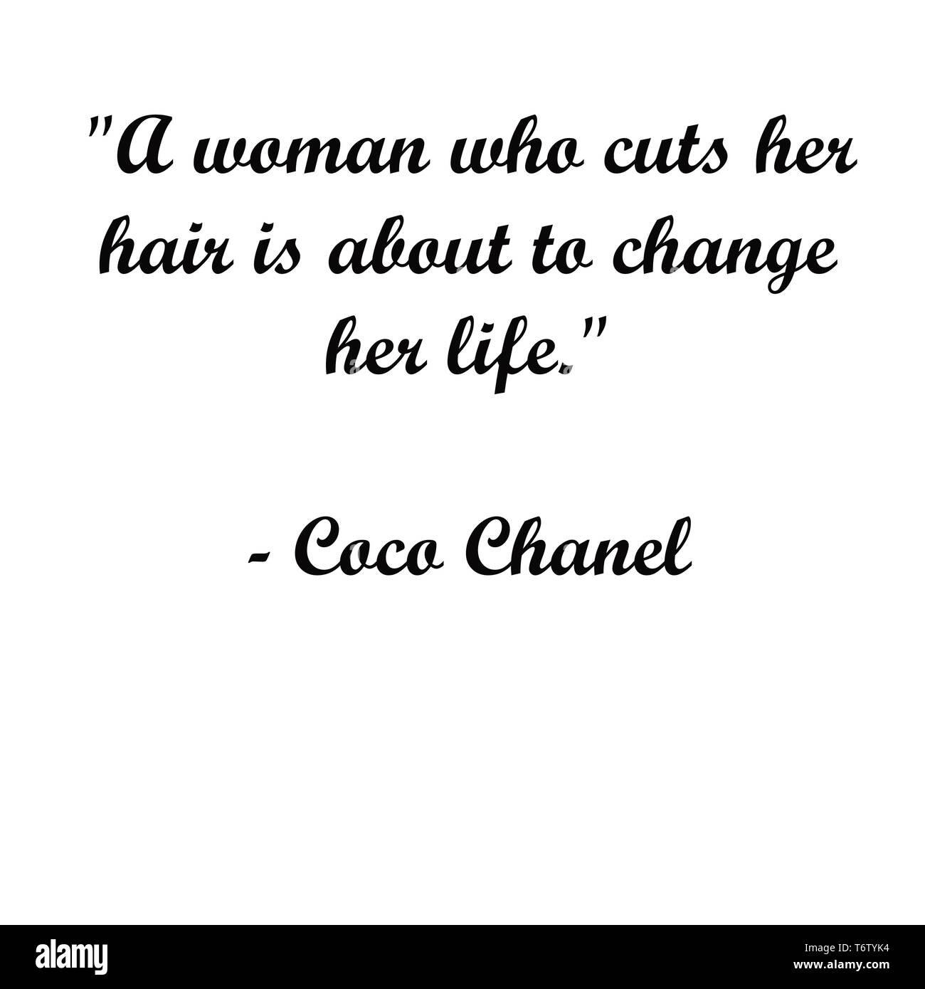 Inspirational Coco Chanel quotes.. Modern typography for artist, t