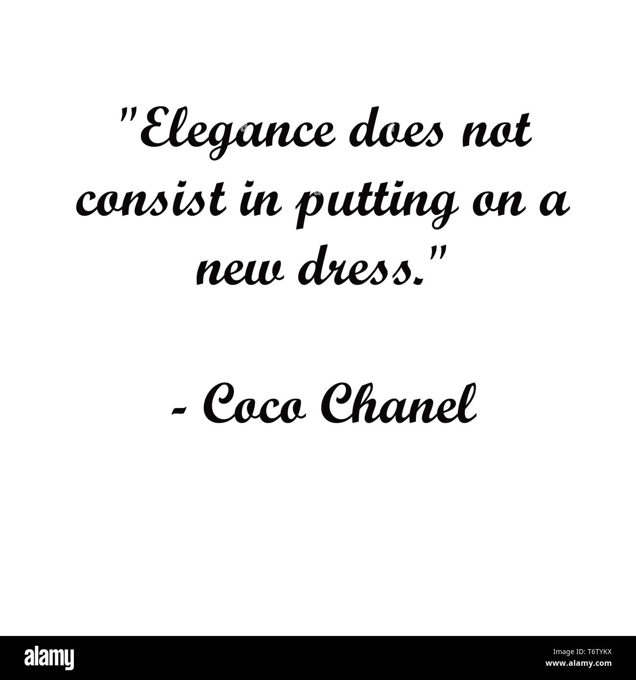 Inspirational Coco Chanel Quotes Modern Typography For
