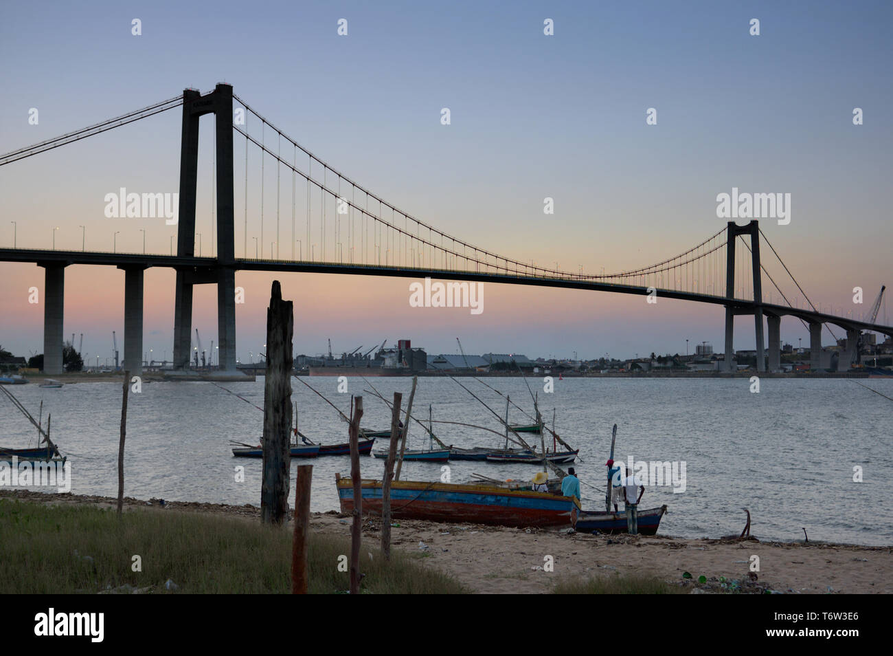 Maputo Katembe bridge, Mozambique Stock Photo